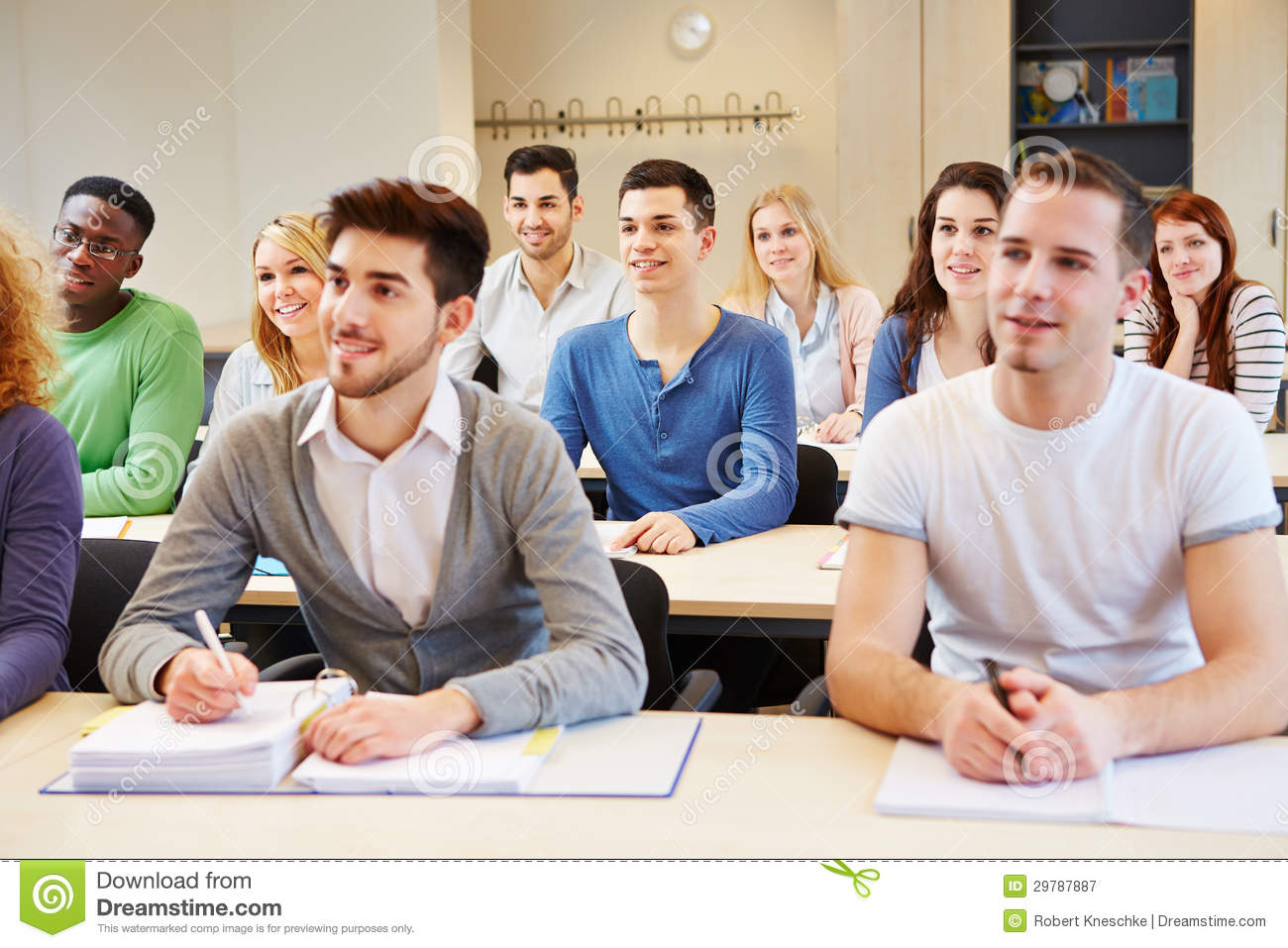 Students In Seminar Studying Royalty Free Stock Photography - Image ...