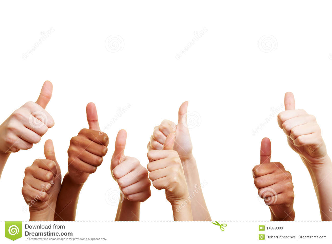 Many Thumbs Up Royalty Free Stock Images - Image: 14879099