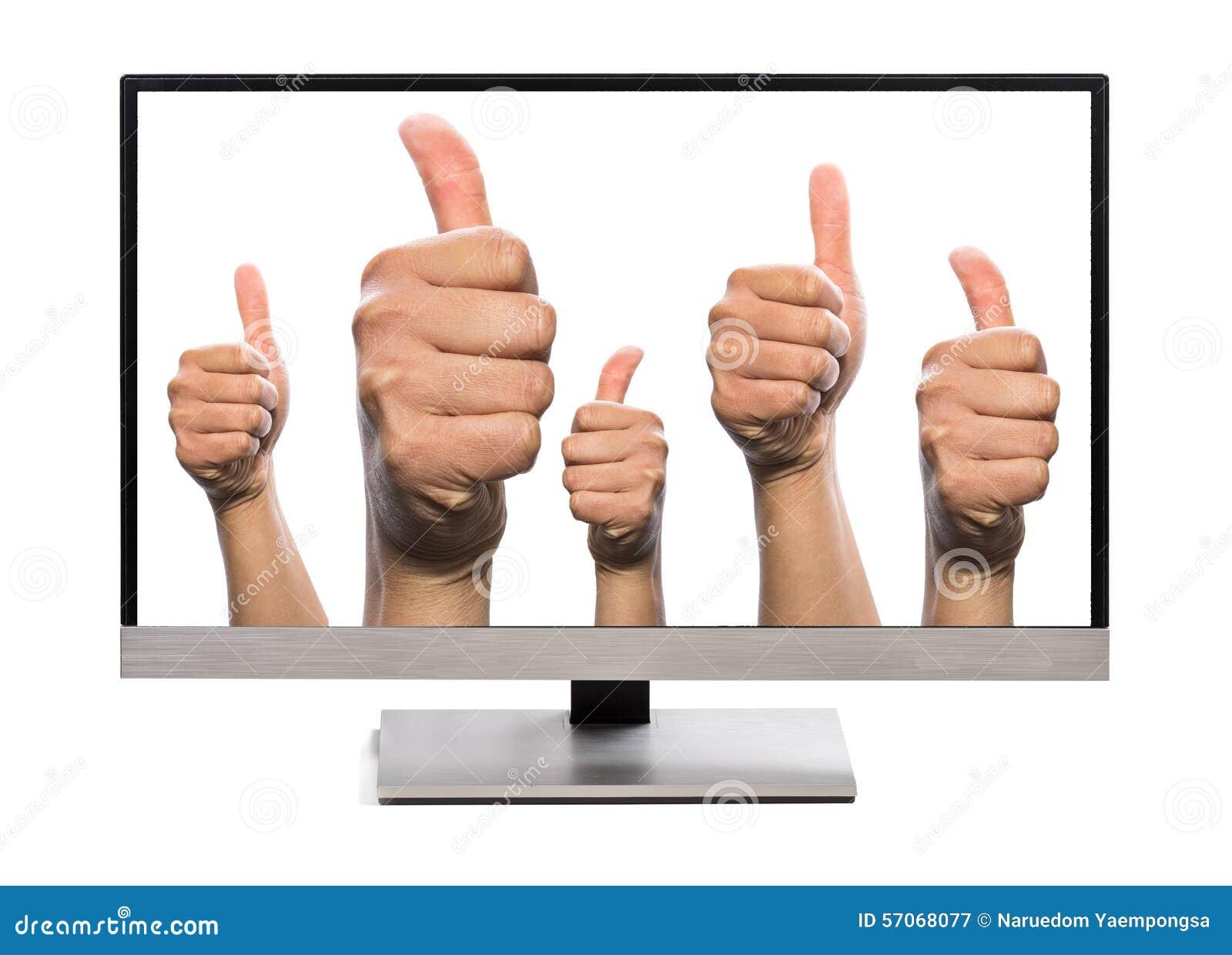 Many thumbs up liking