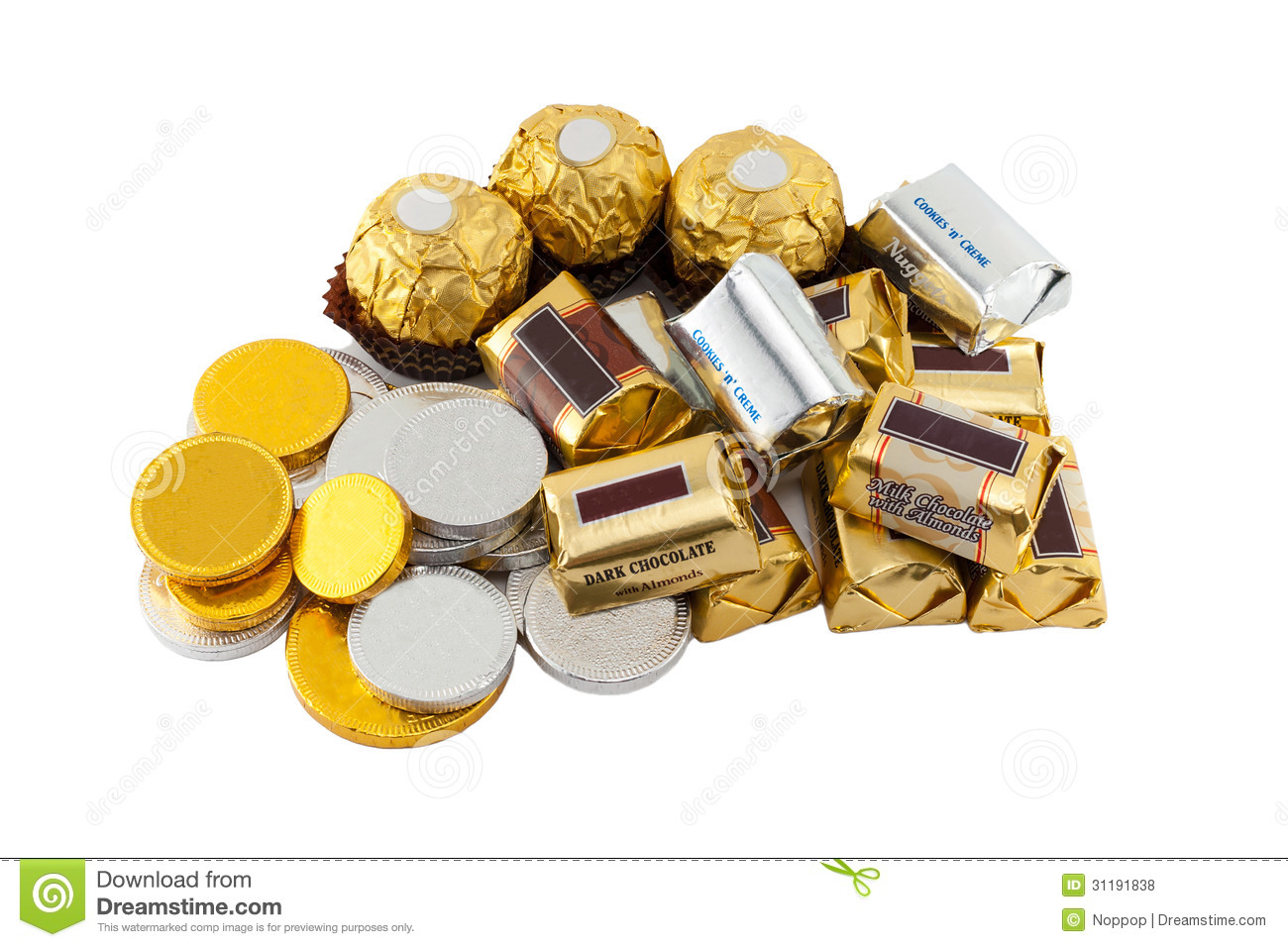 Many Types Of Chocolate Royalty Free Stock Photos - Image: 31191838