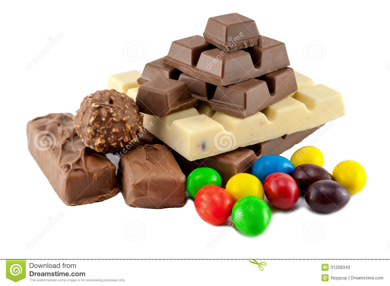 Many Types Of Chocolate Stock Photos - Image: 31208343