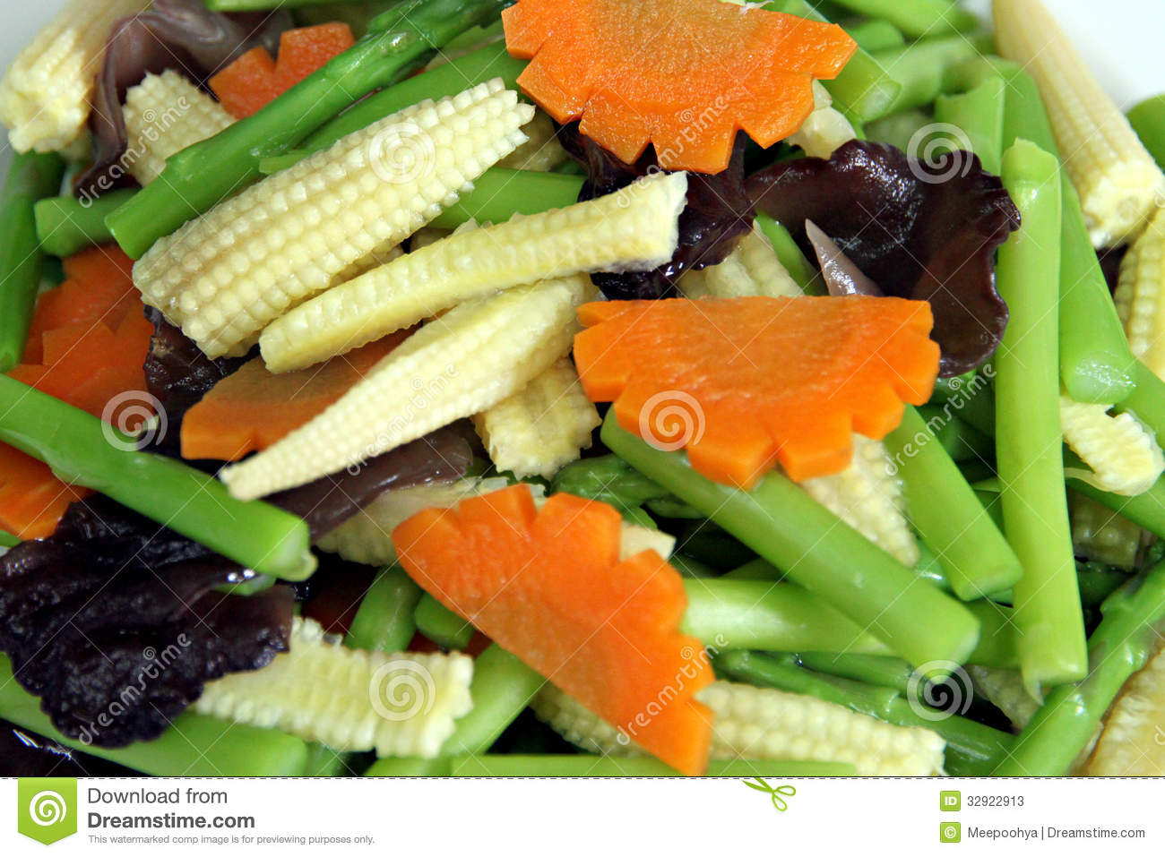 Many types of sliced vegetables in dish stock photos image