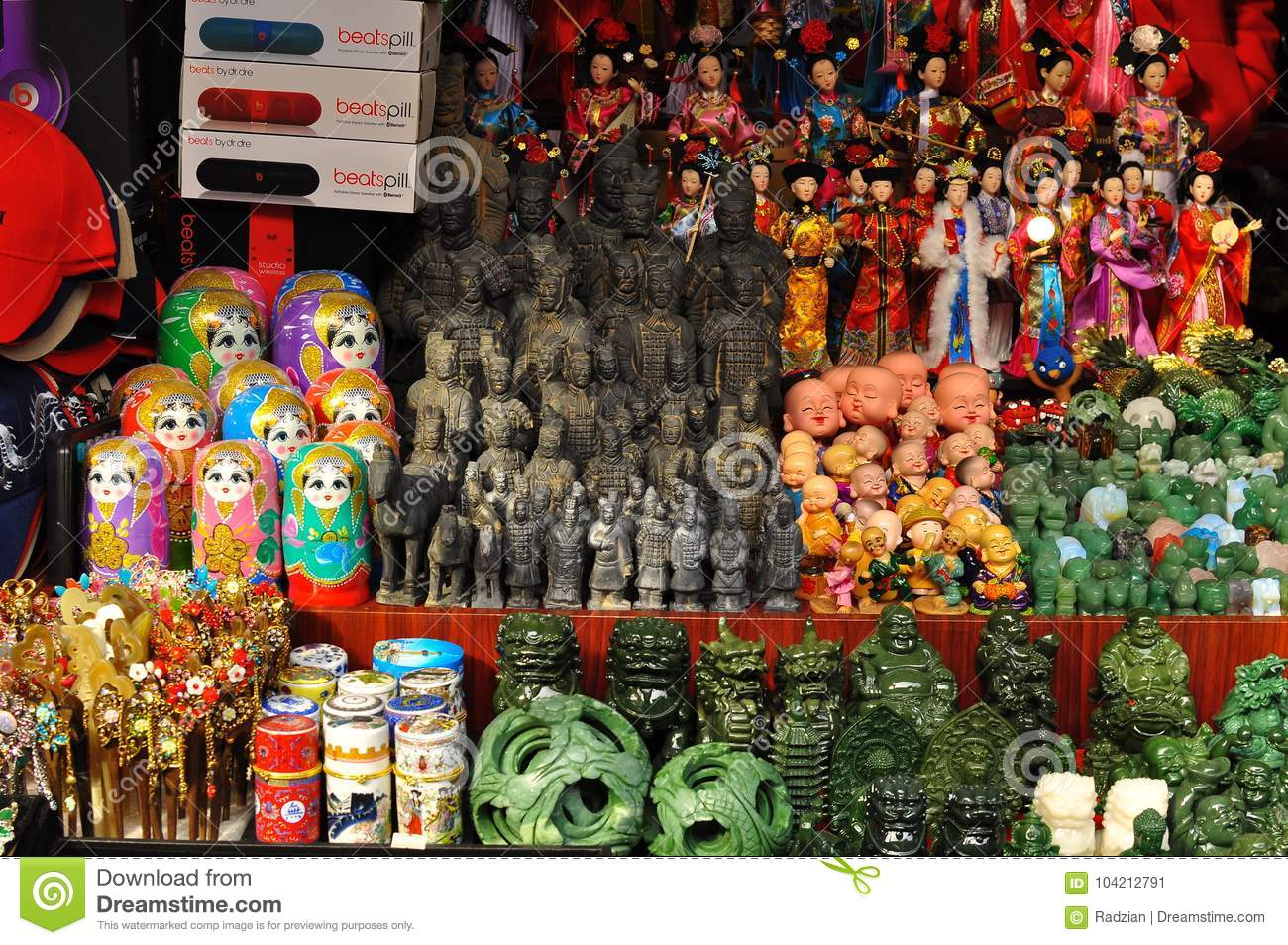 Handicrafts For Sale At The Old City God S Temple Souvenir Shops In