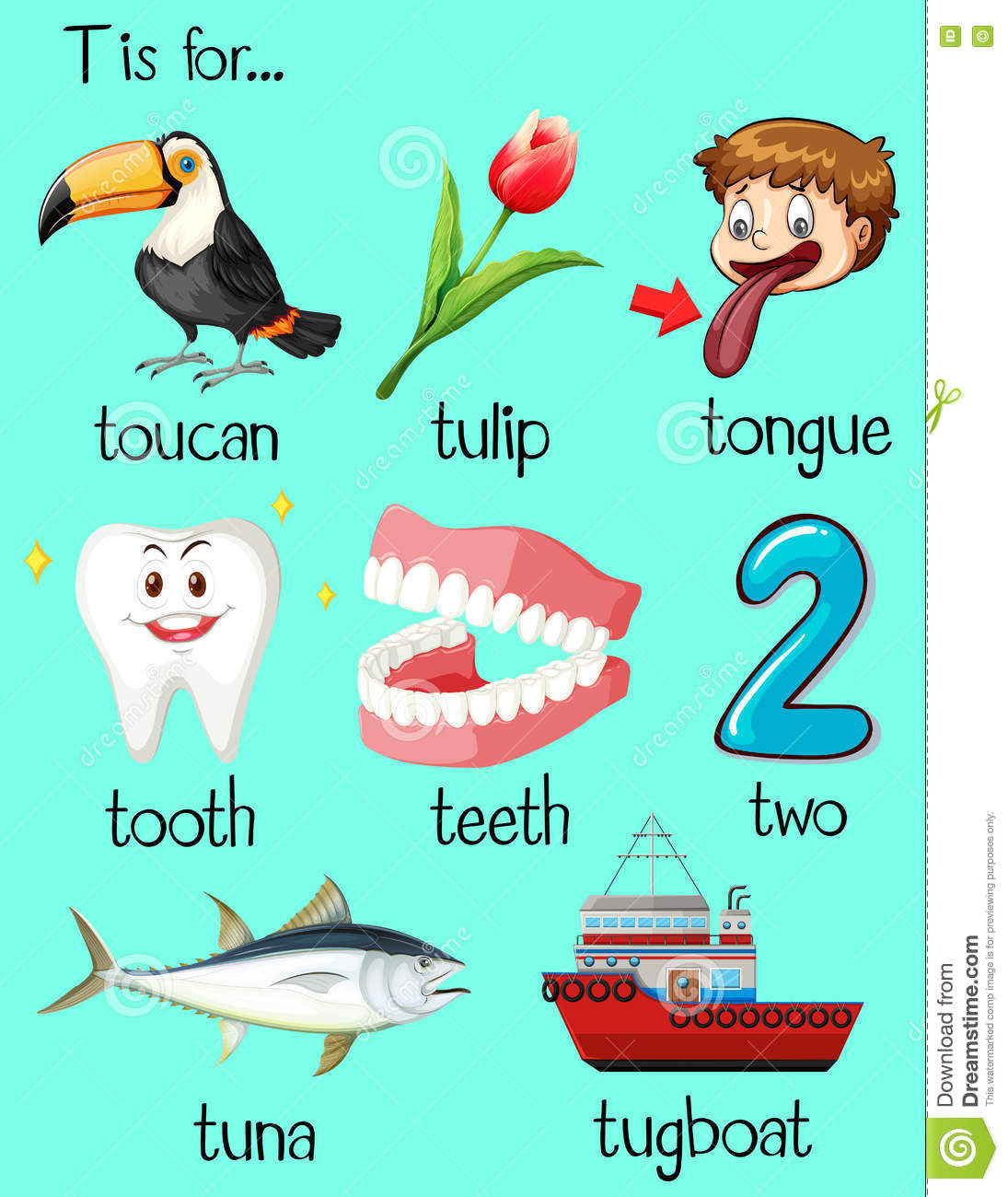 words that start with the letter t tugboat illustrations amp vector stock images 38119