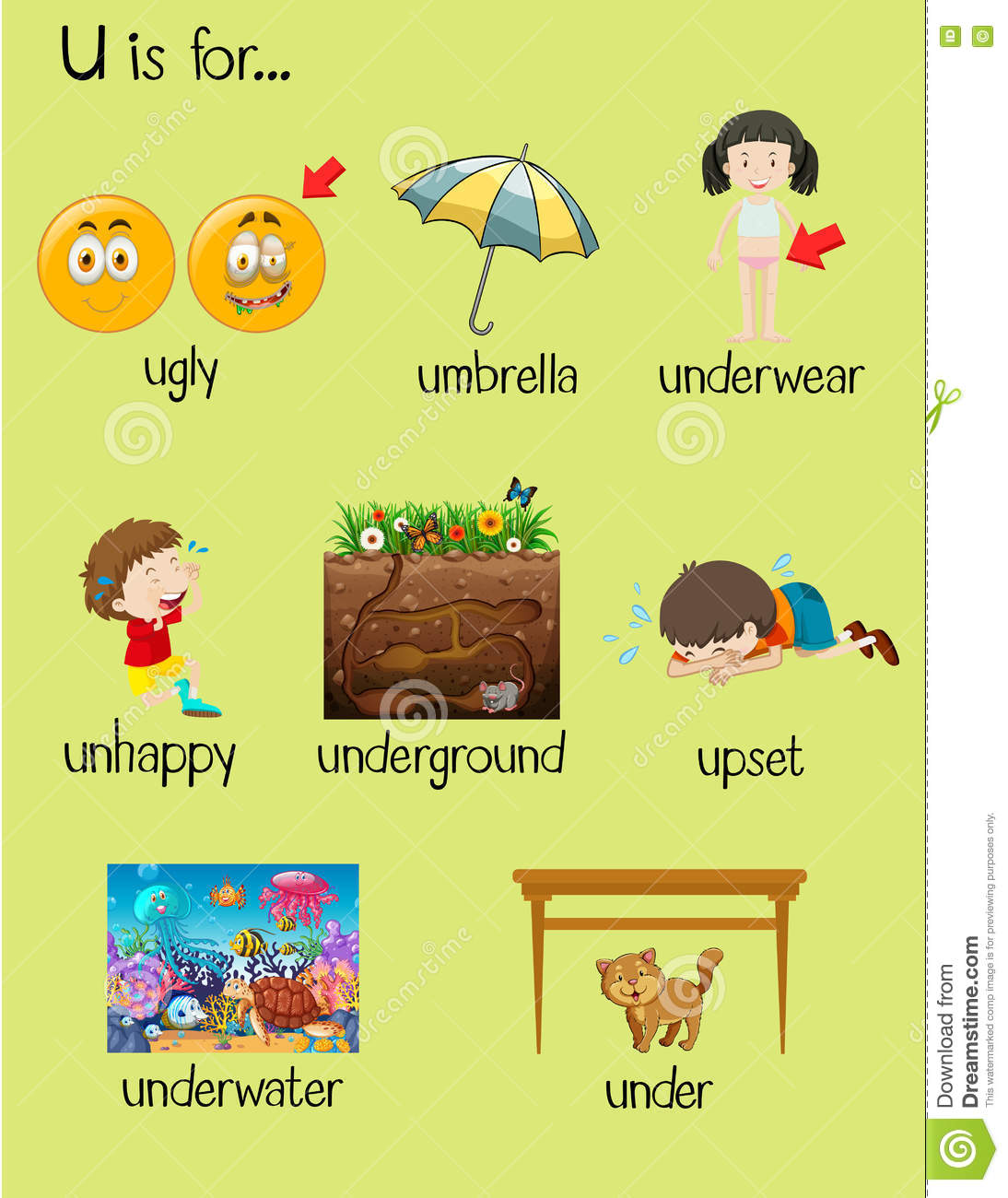Letter Word Starting With Under