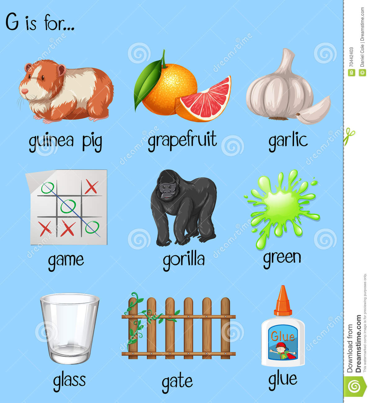 Letter Words Starting With G