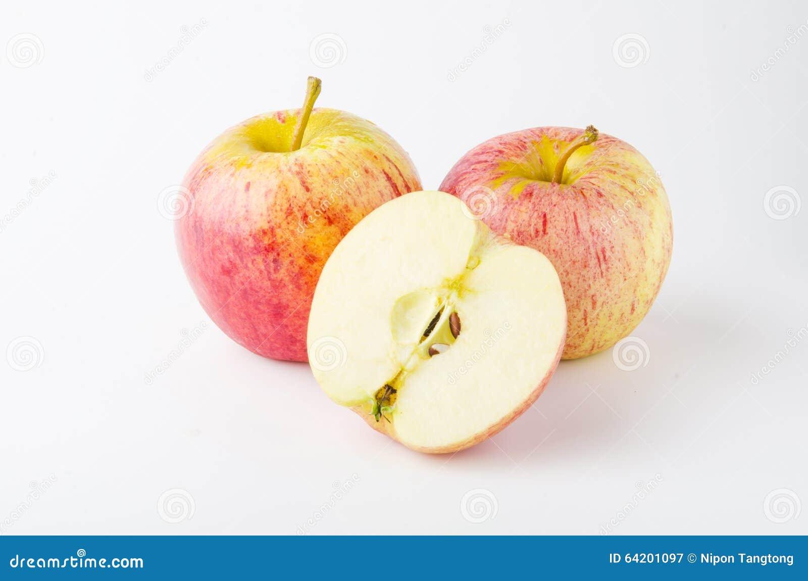 Manzana fresca aislada en el fondo blanco
