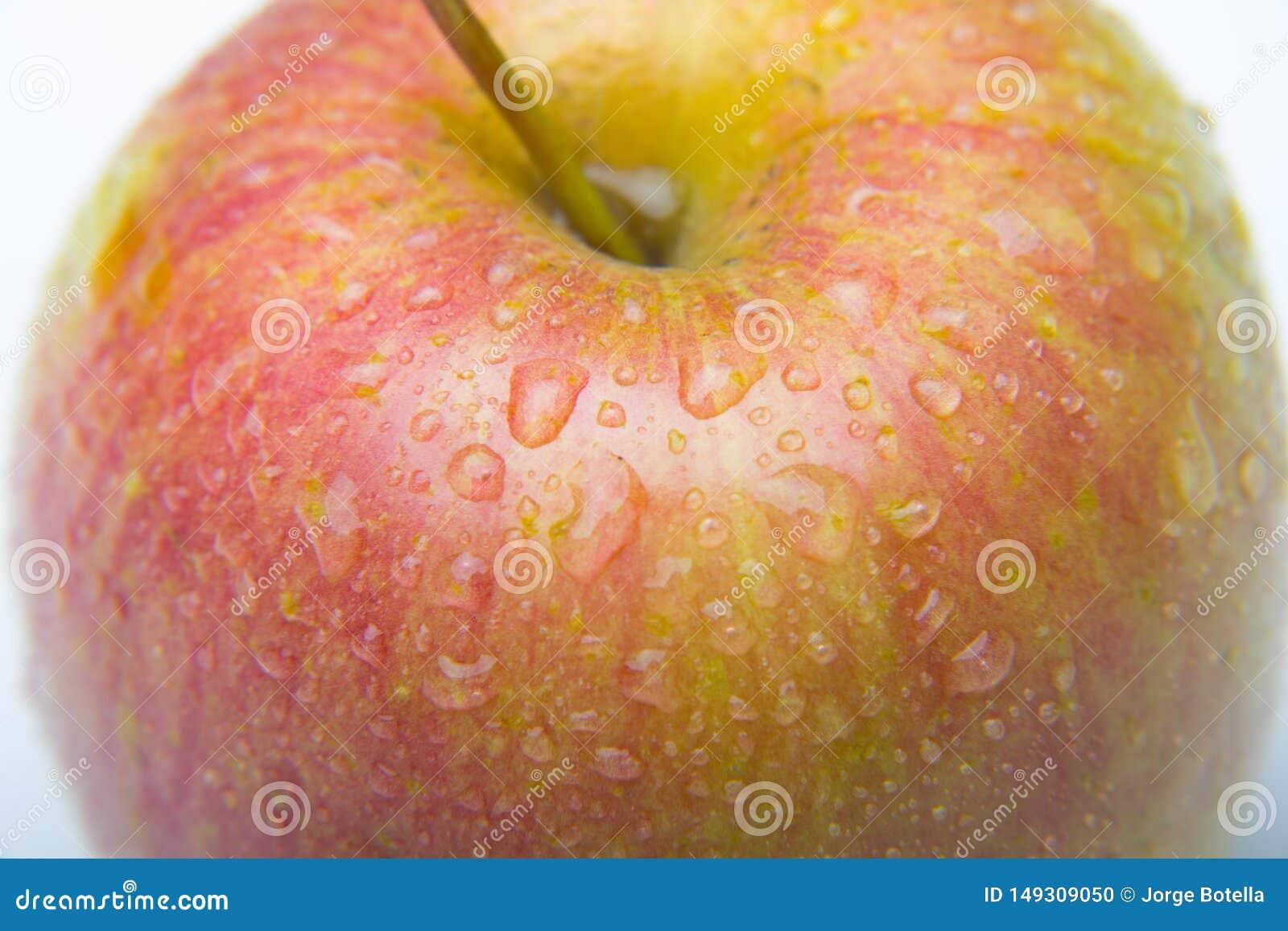 Manzana hermosa, sano, fresco y sano
