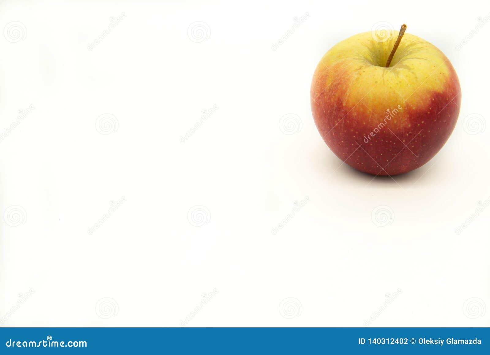 Manzana madura roja, amarilla, jugosa