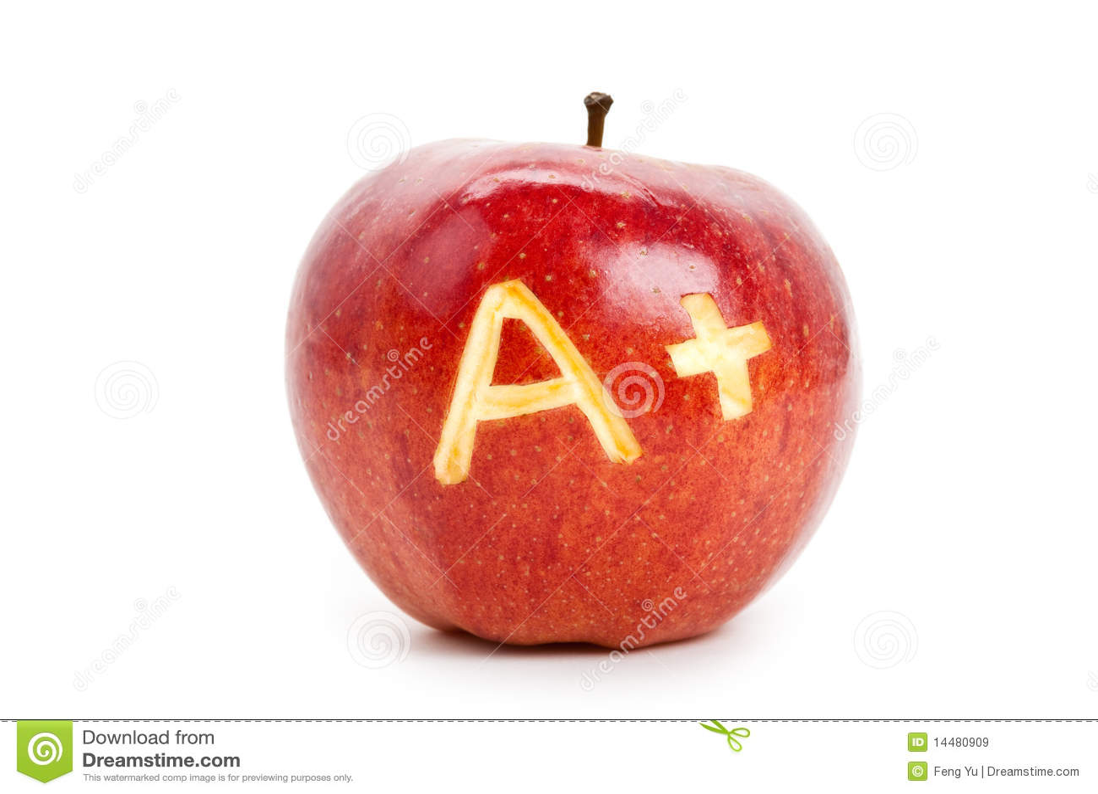 Manzana roja y un signo más