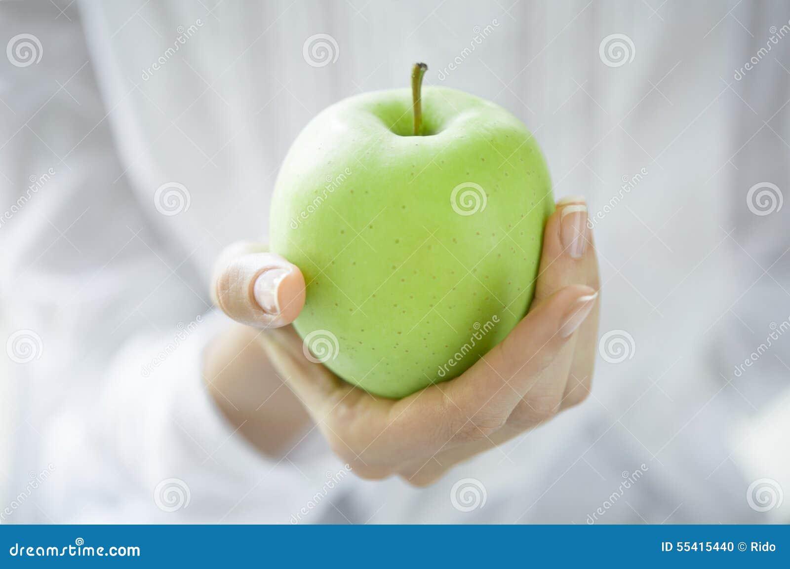 Manzana verde sana