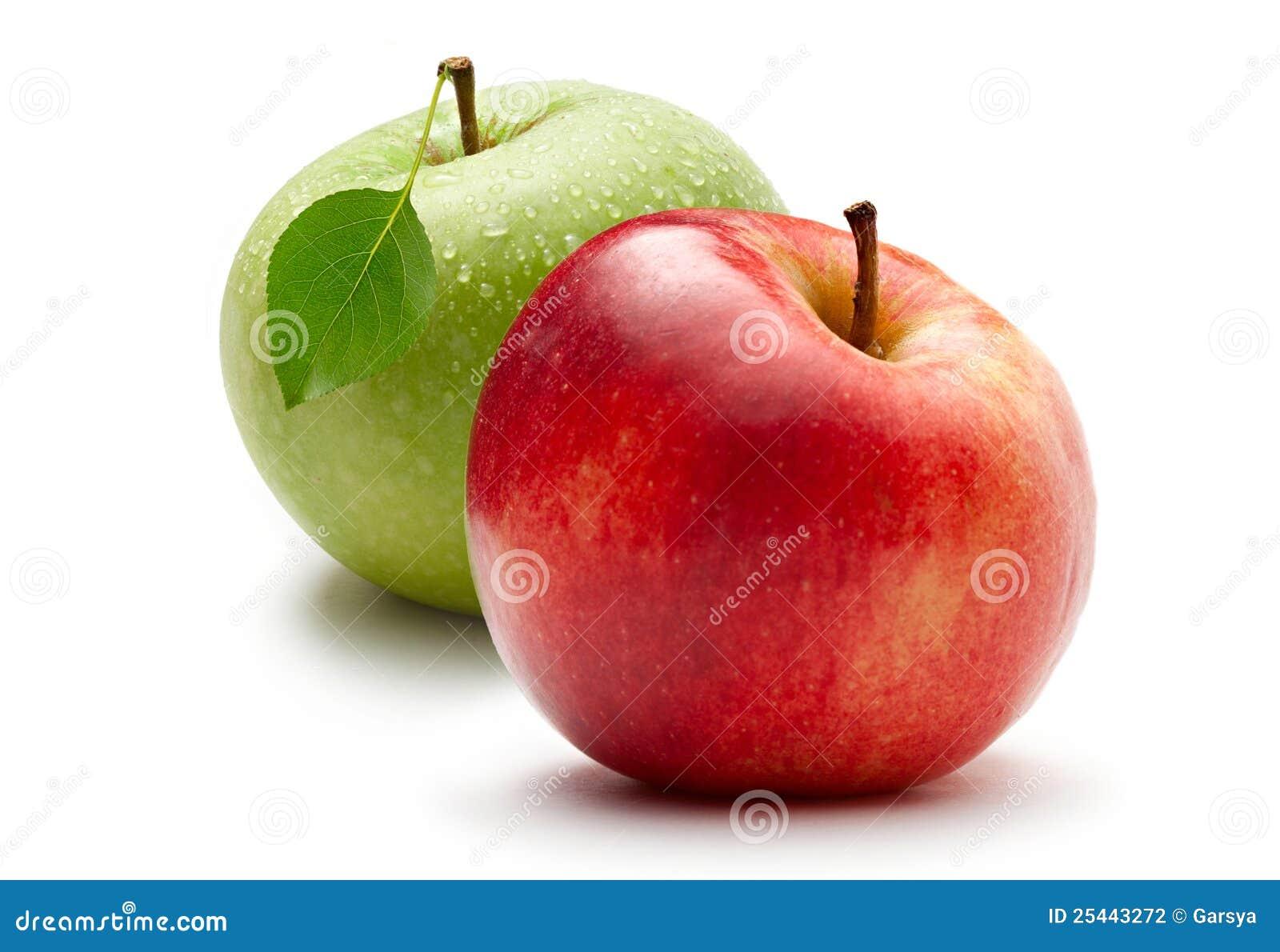 Manzana verde y roja foto de archivo imagen de nadie - Pure de castanas y manzana ...