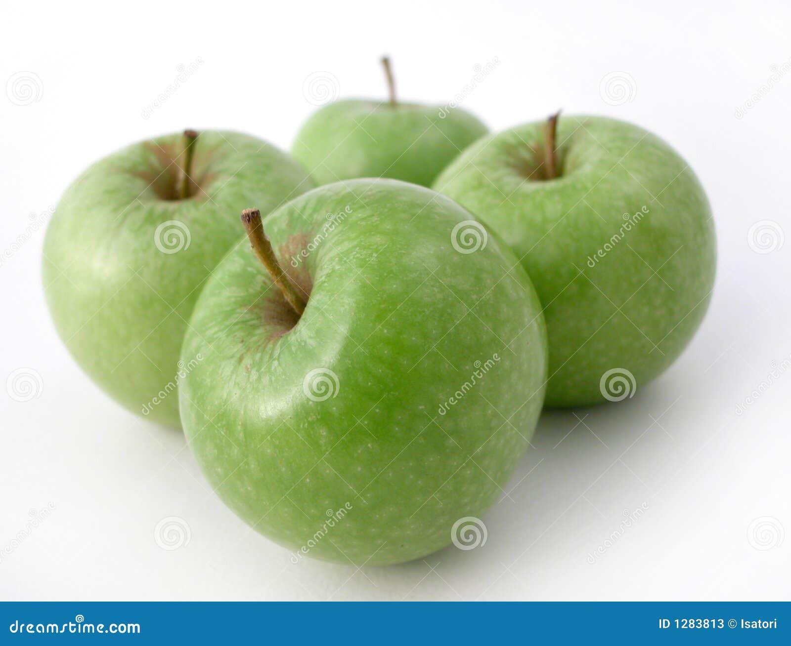 Manzanas crujientes frescas