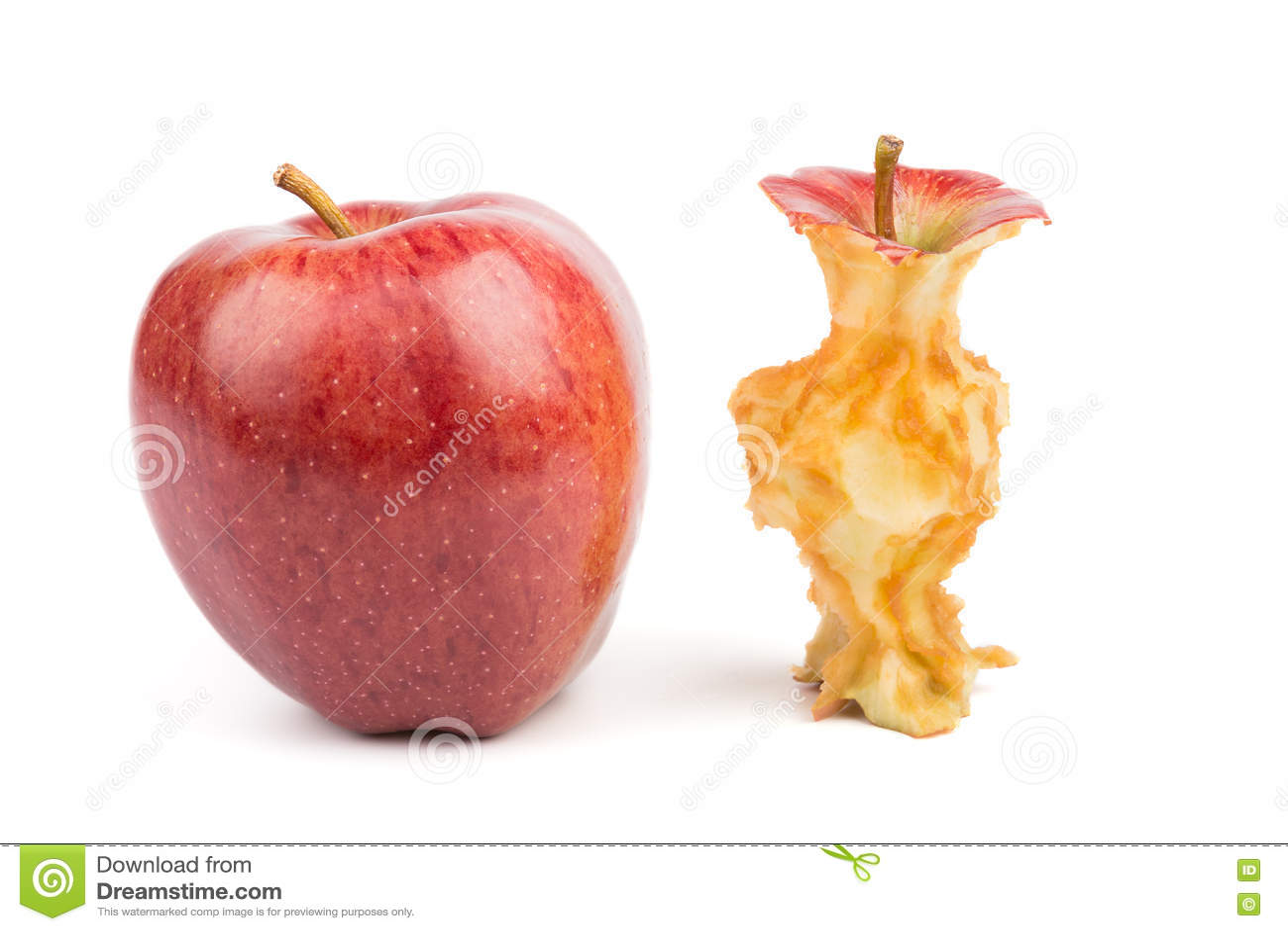 Manzanas enteras y comidas aislado imagen de archivo - Pure de castanas y manzana ...