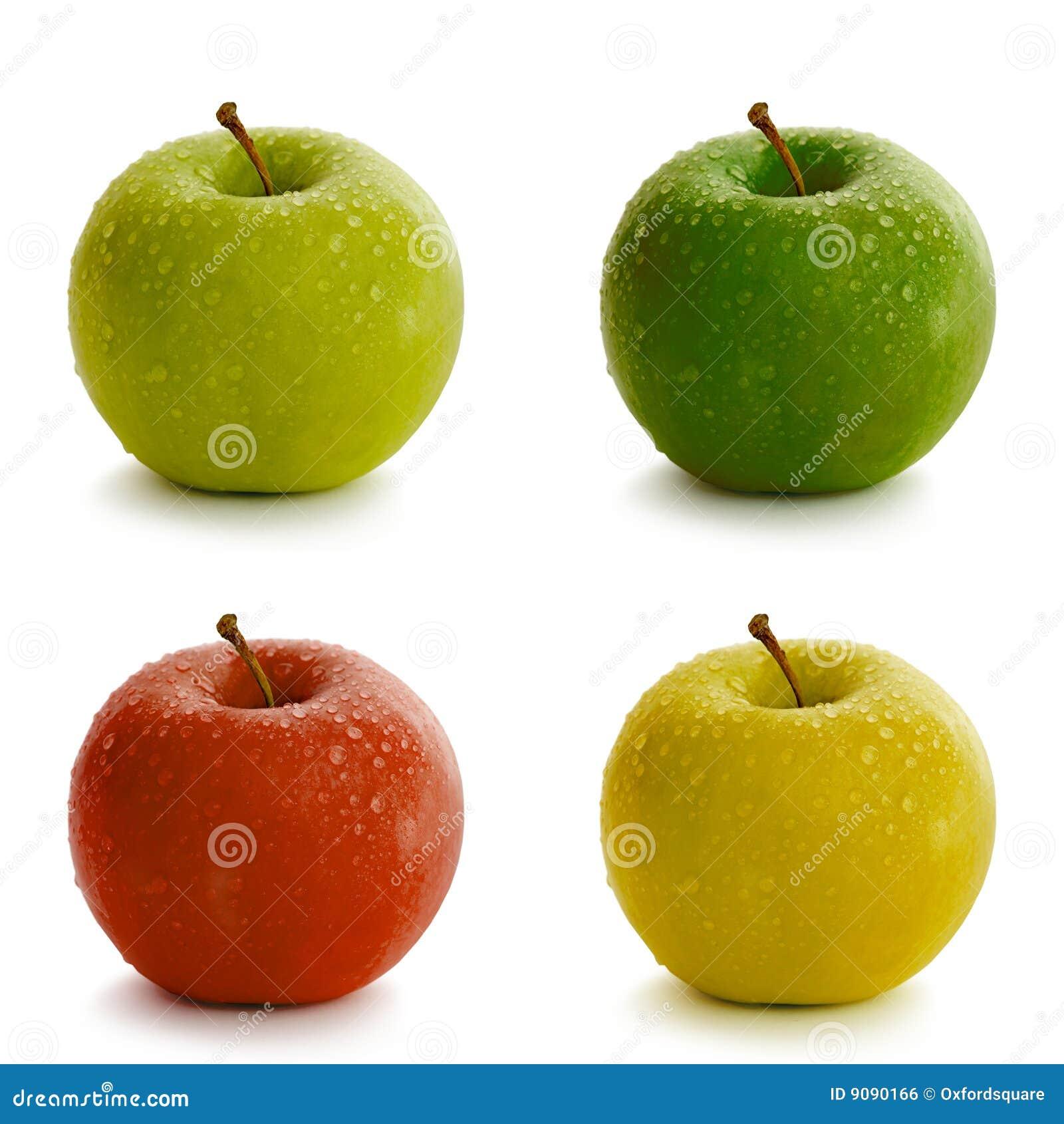 Manzanas Frescas En Varios Colores Foto de archivo - Imagen de ...