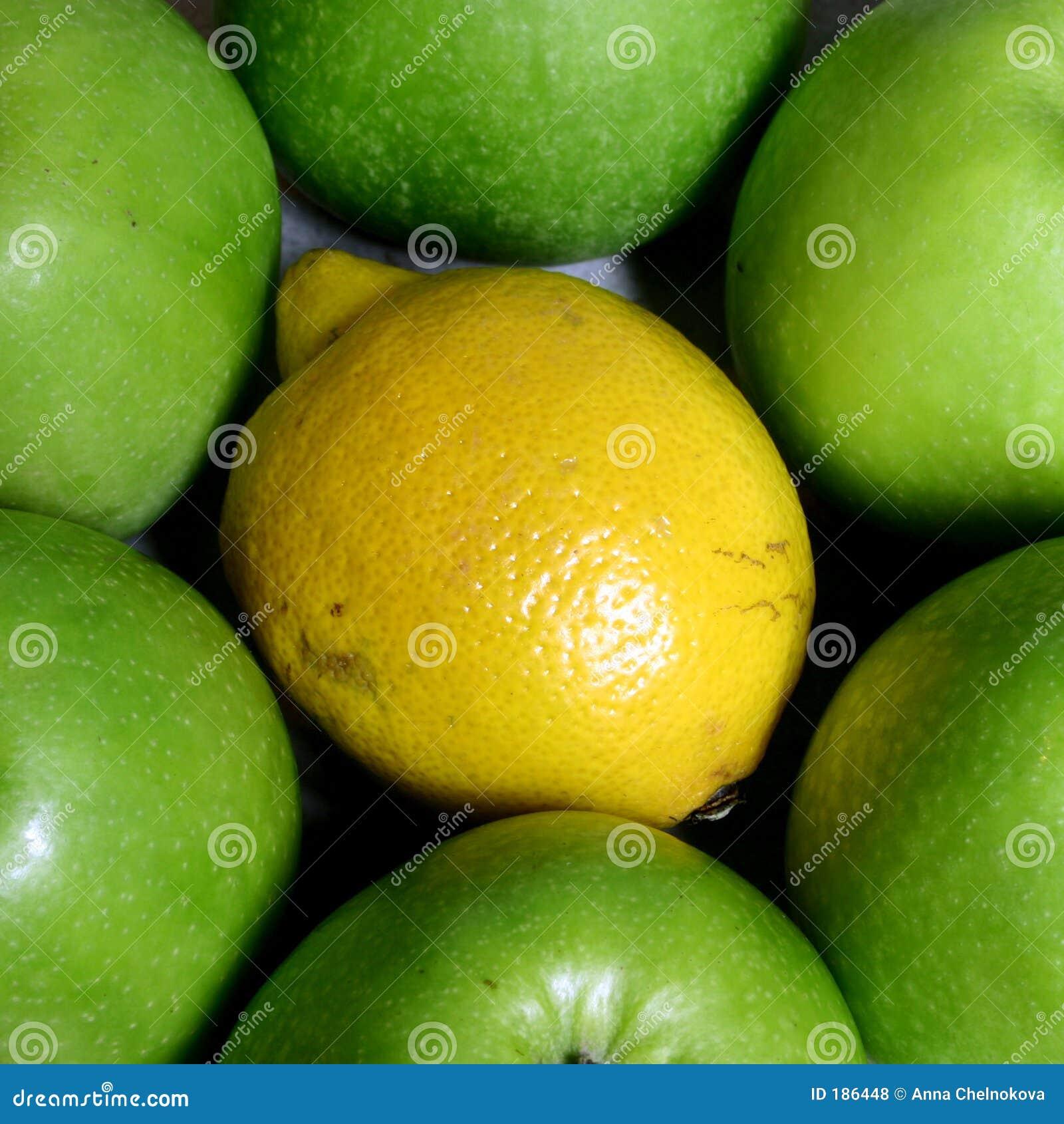 Manzanas y limón