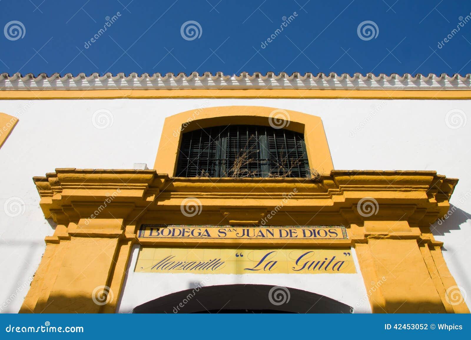 Manzanilla-Weinkellereitür