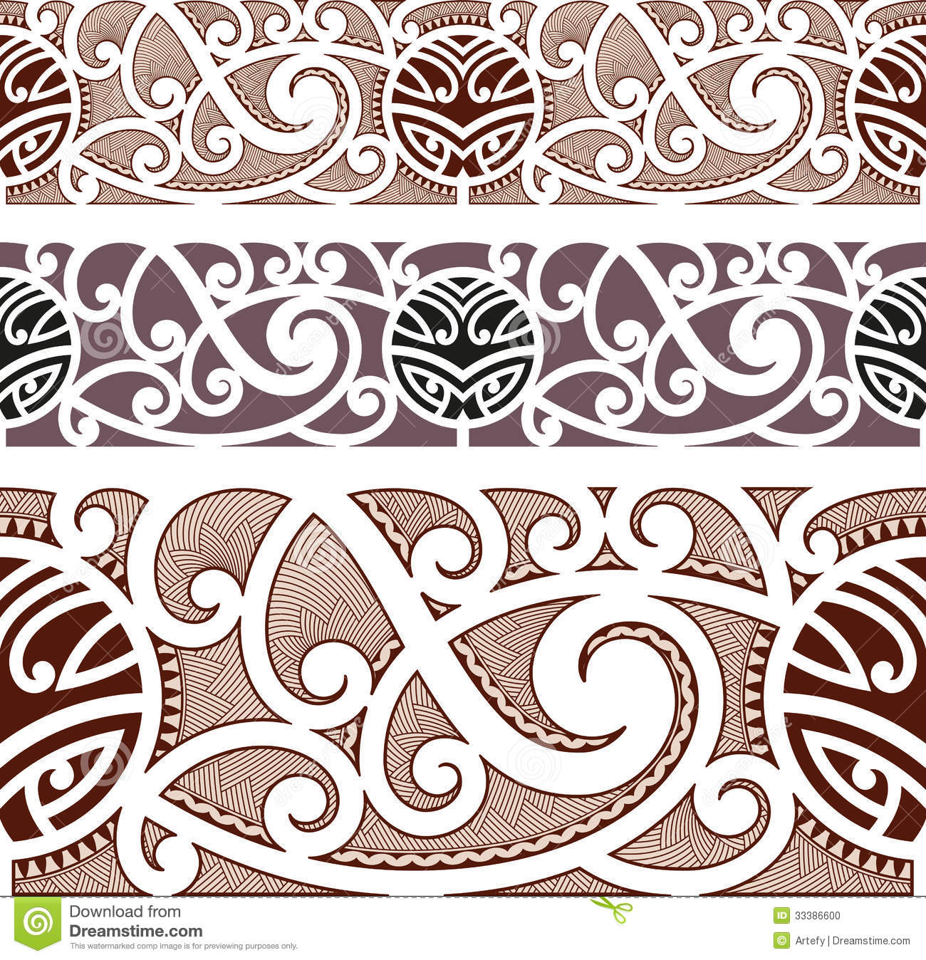 maori angeredetes nahtloses muster stockfoto bild 33386600. Black Bedroom Furniture Sets. Home Design Ideas