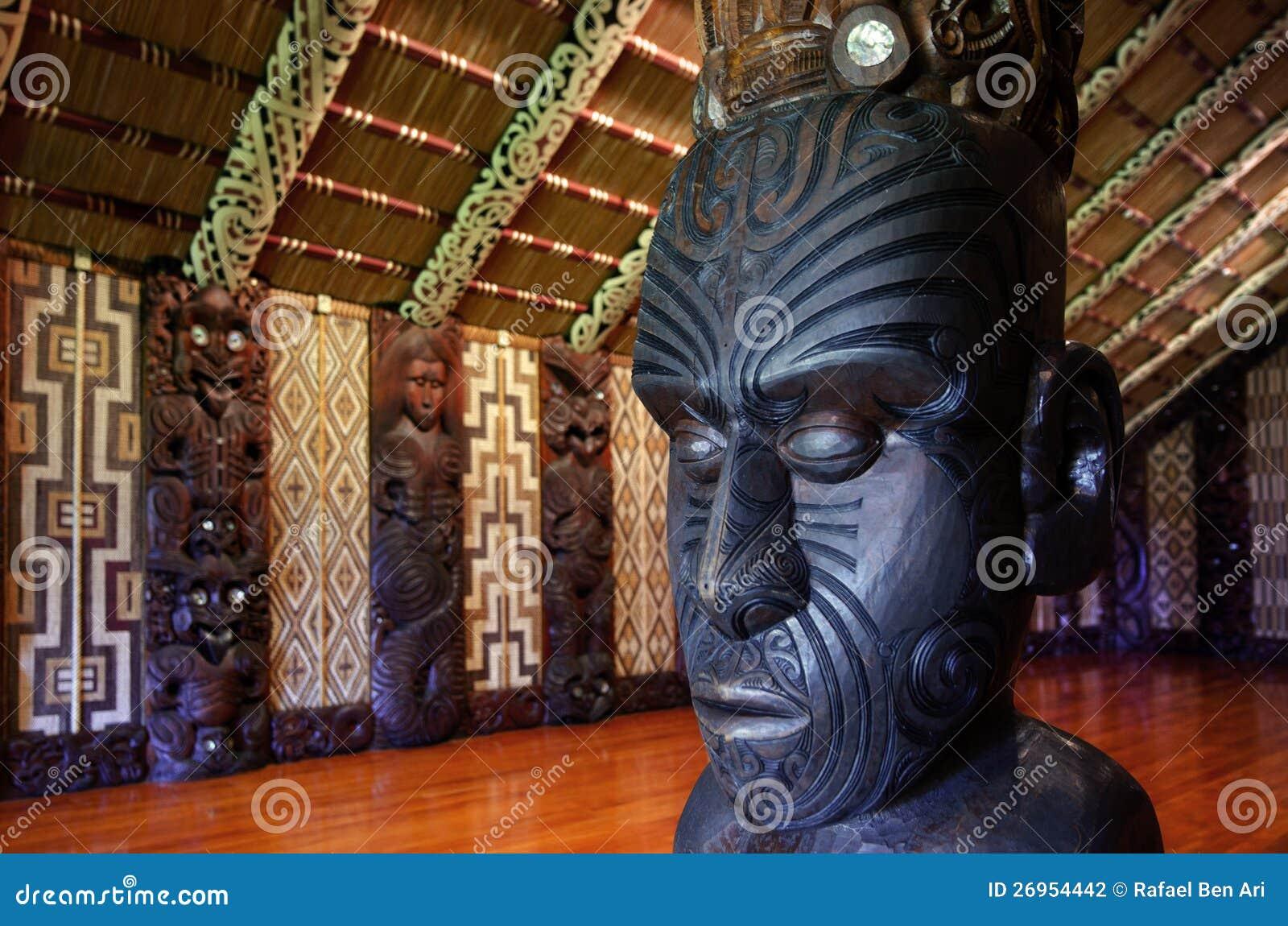 Maori meeting house - Marae