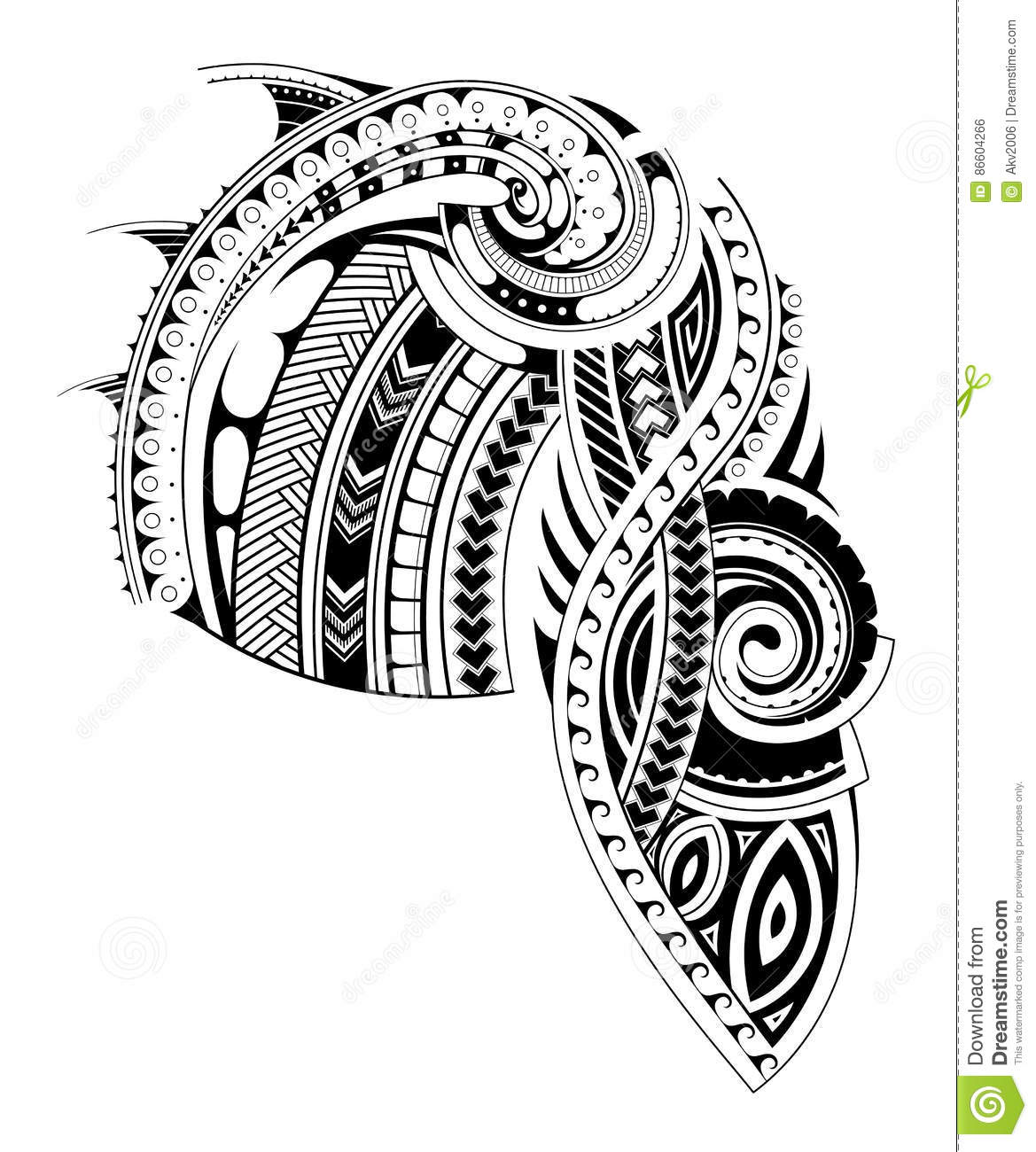 Tattoo Template | Maori Style Sleeve Tattoo Template Stock Vector Illustration Of