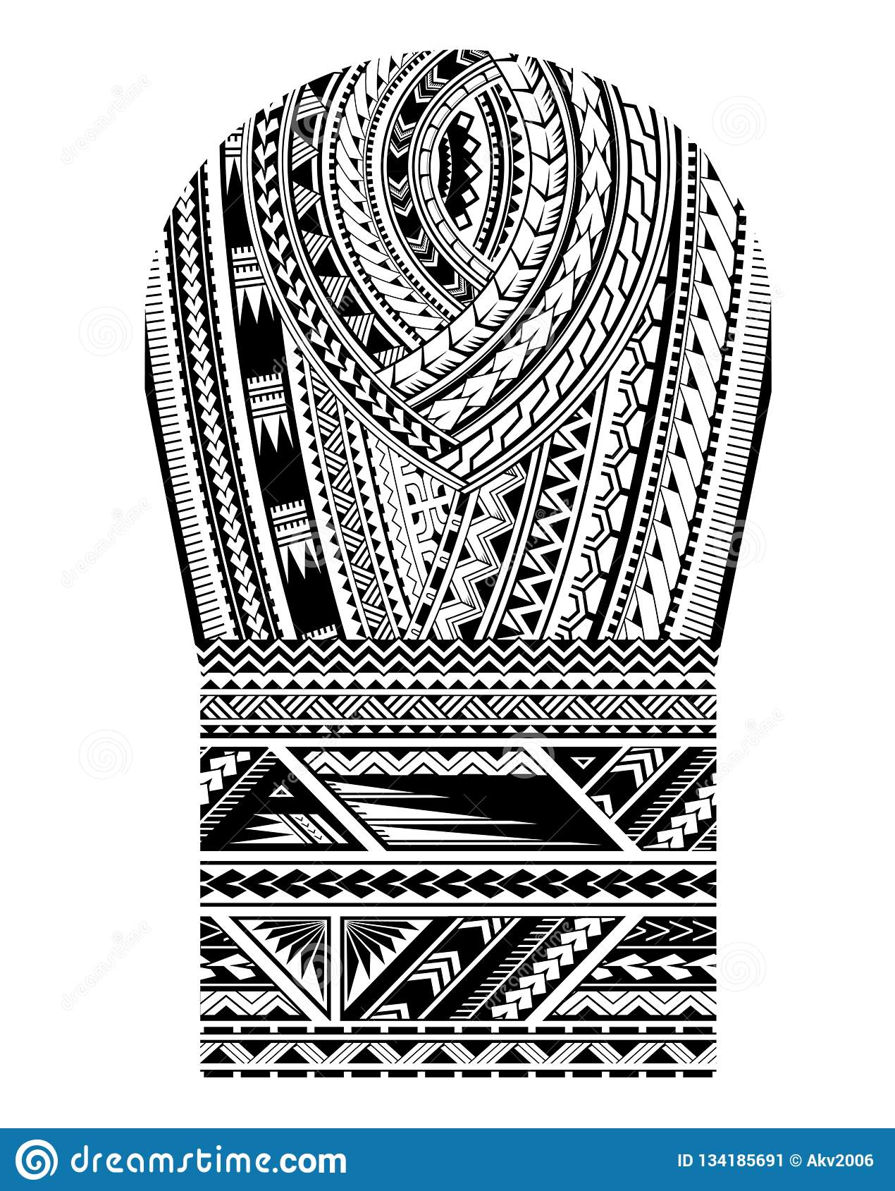 Maori Style Tattoo For Bicep Shoulder And Sleeve Area Stock
