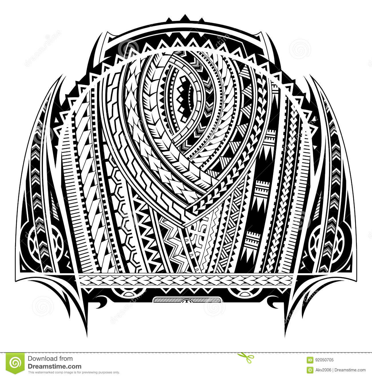 f69a95cdca3b8 Maori style tattoo. Good for chest and sleeve tattoo. Designers ...