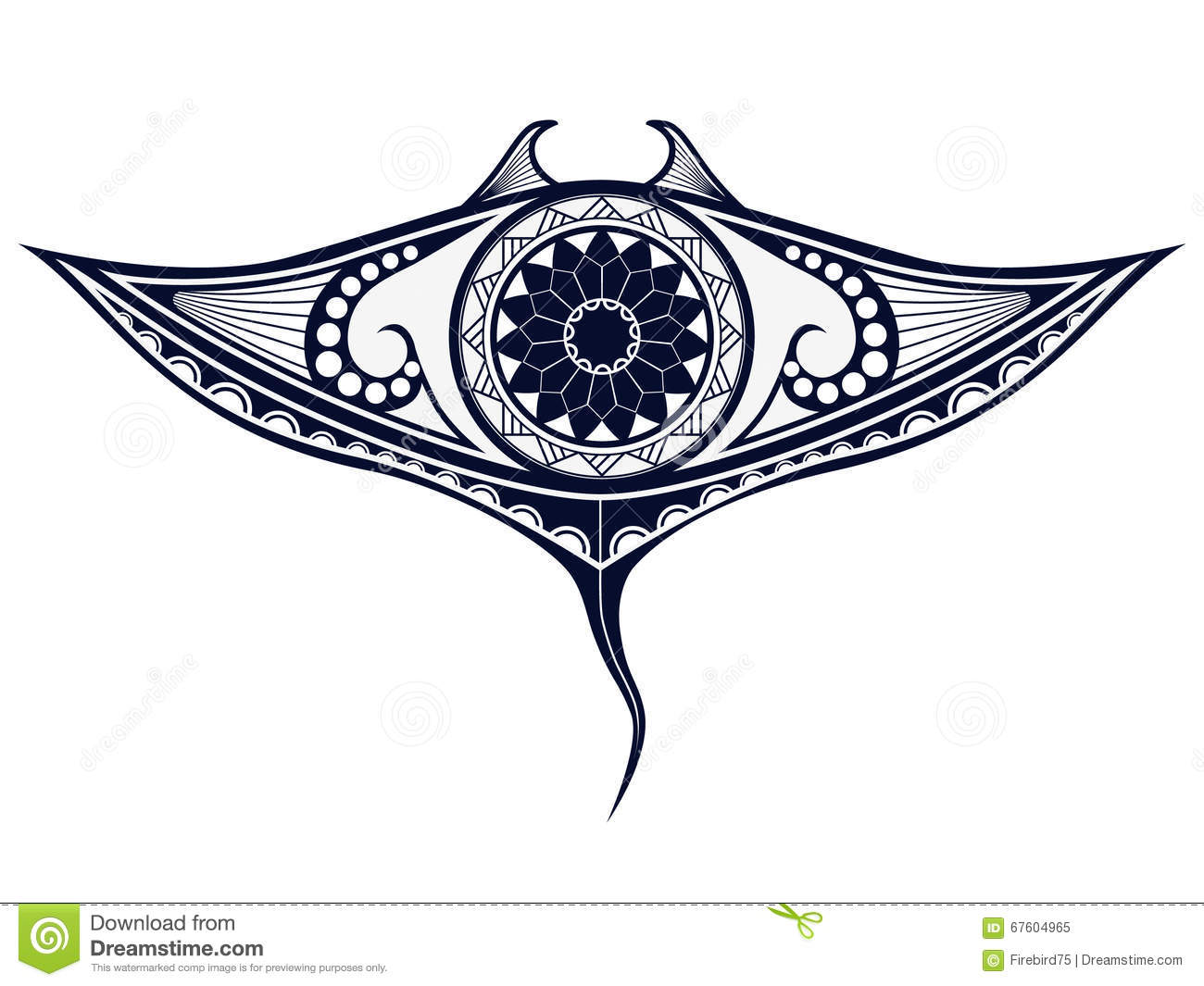 Polynesian Patterns And Designs Stingray