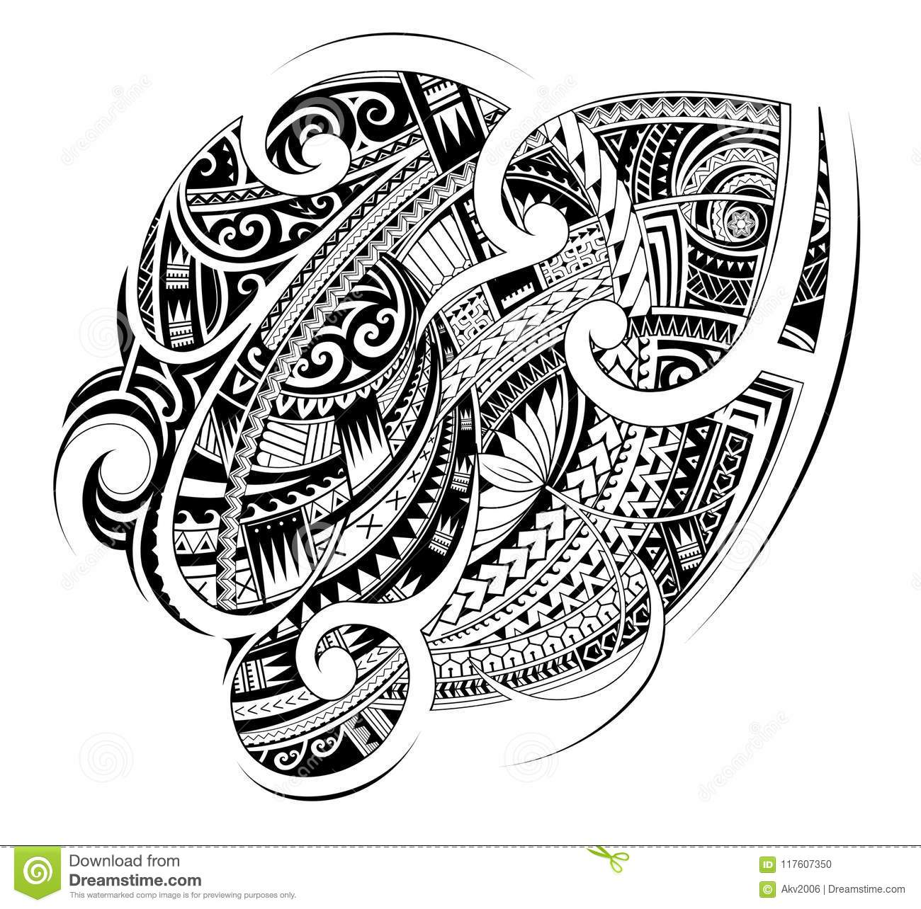 6eb2c3b627ffb Maori ethnic style ornament. Good for sleeve and chest tattoo. Designers ...