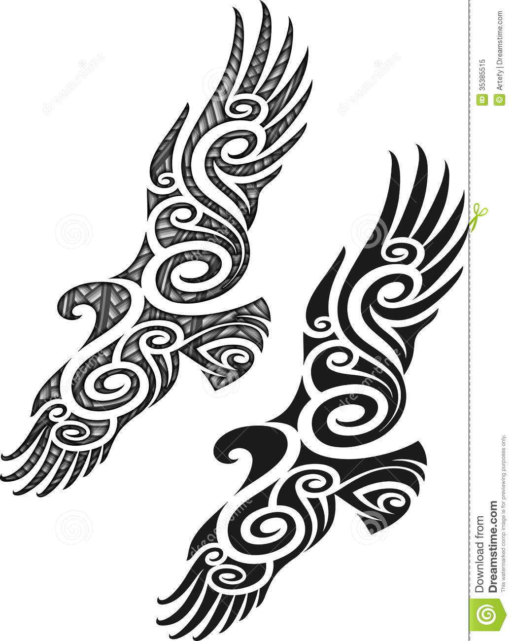 Maori Tattoo Pattern - Eagle Stock Vector - Illustration of ...