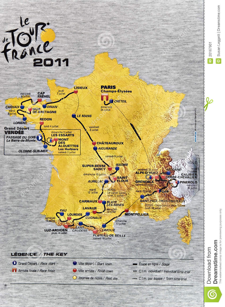 Map Of France Key Stage 2.Map Of The 2011 Tour De France Editorial Photo Image Of Drawing