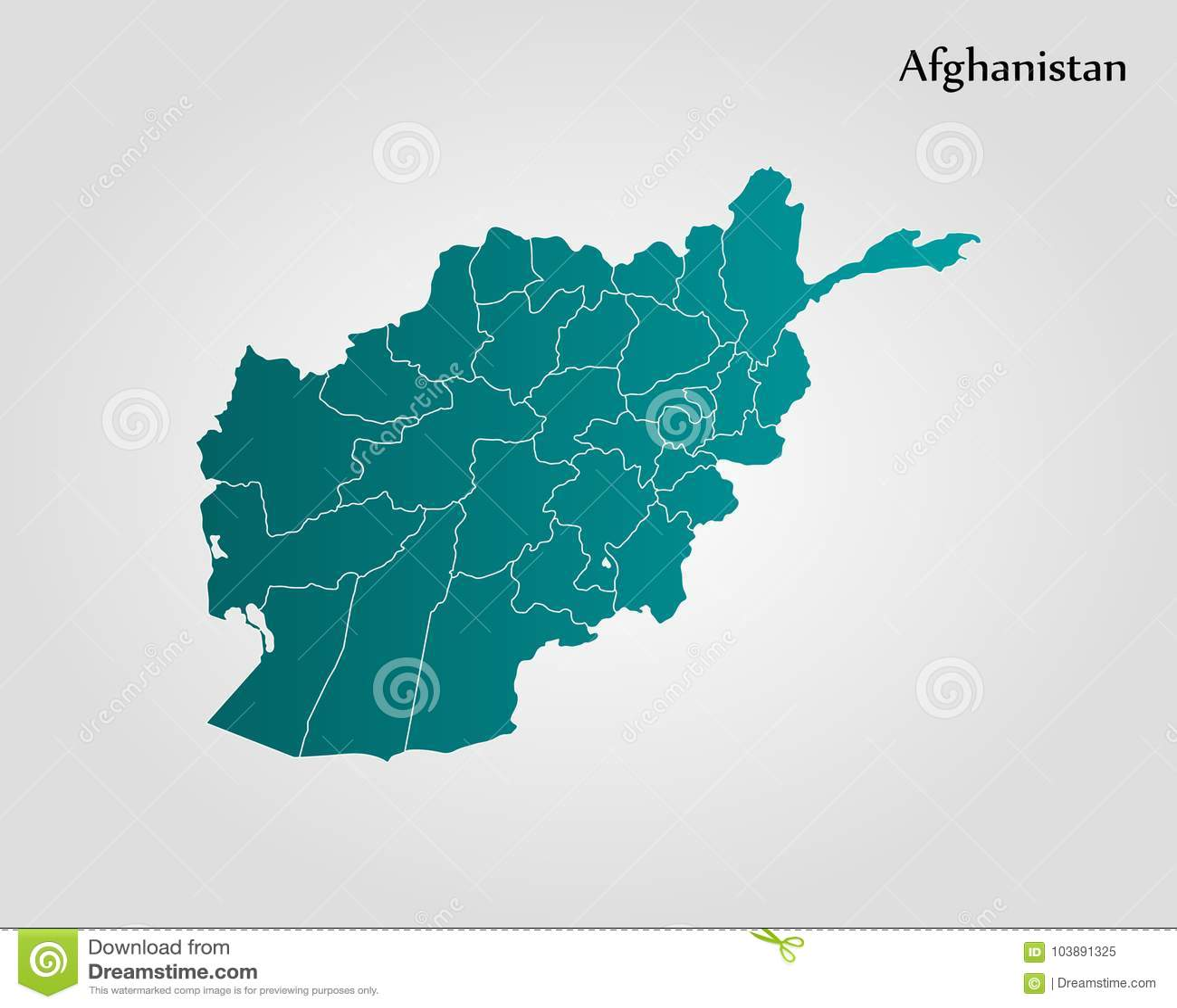 Map of Afghanistan stock illustration. Illustration of herat - 103891325