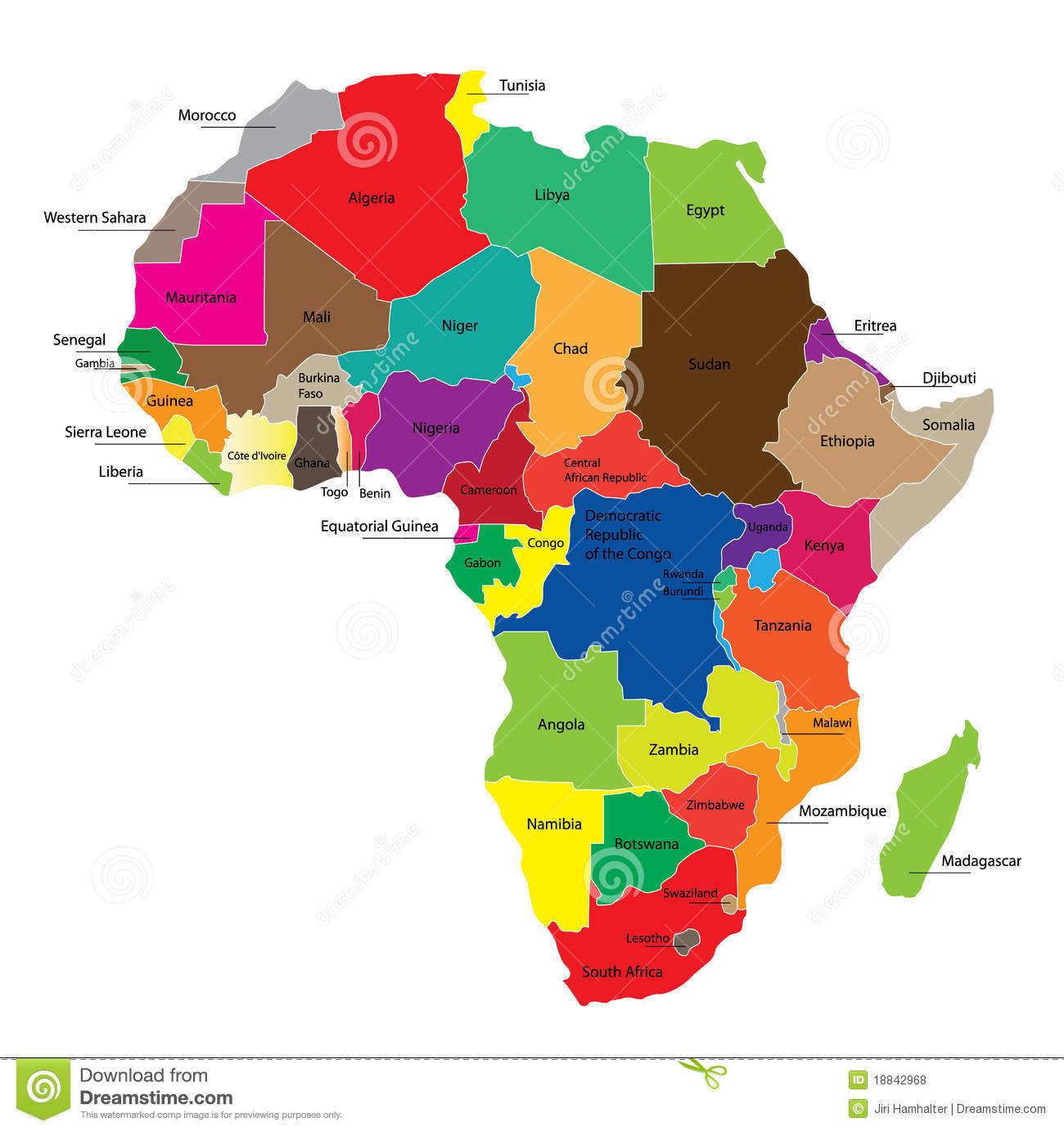 africa map and names