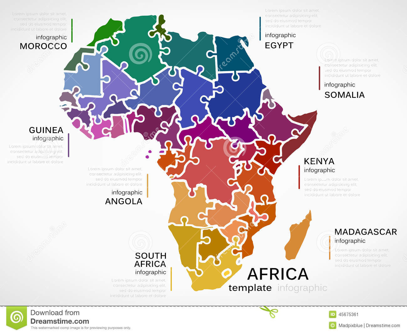 Map Of Africa Stock Vector