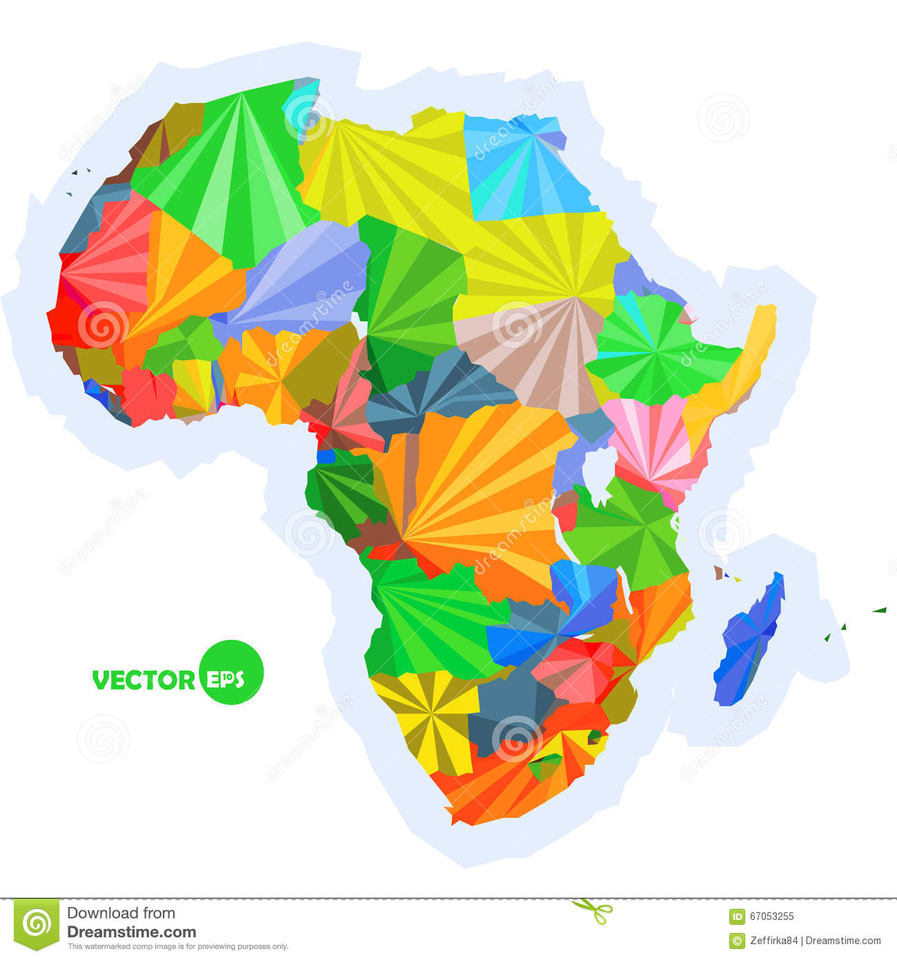 Colorful Physical Map Of Africa 67