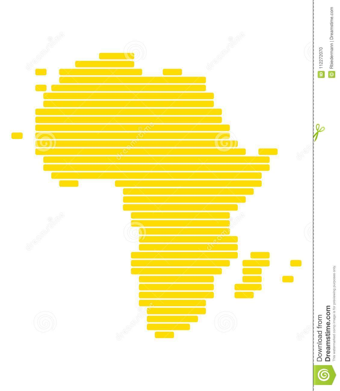 Accurate Map Of Africa.Map Of Africa Stock Vector Illustration Of Background 112272070