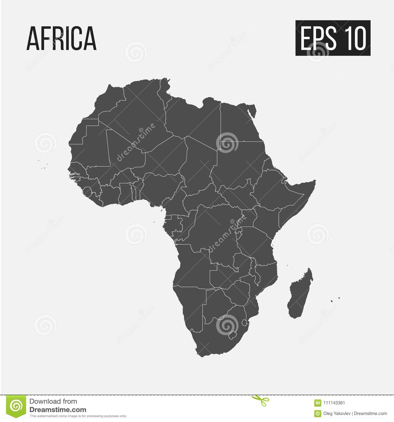 Map Of Africa Regions.Map Of Africa With Regions Stock Vector Illustration Of Design