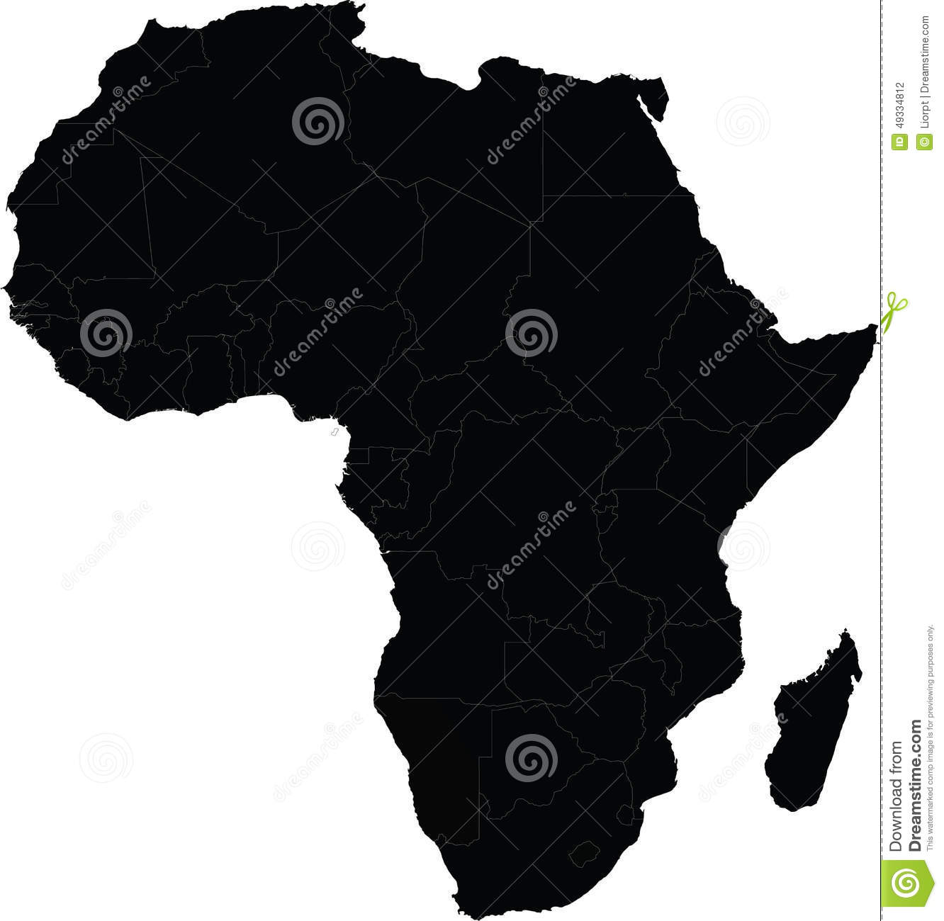 Map Of Africa Vector Stock Vector Illustration Of Nigeria 49334812