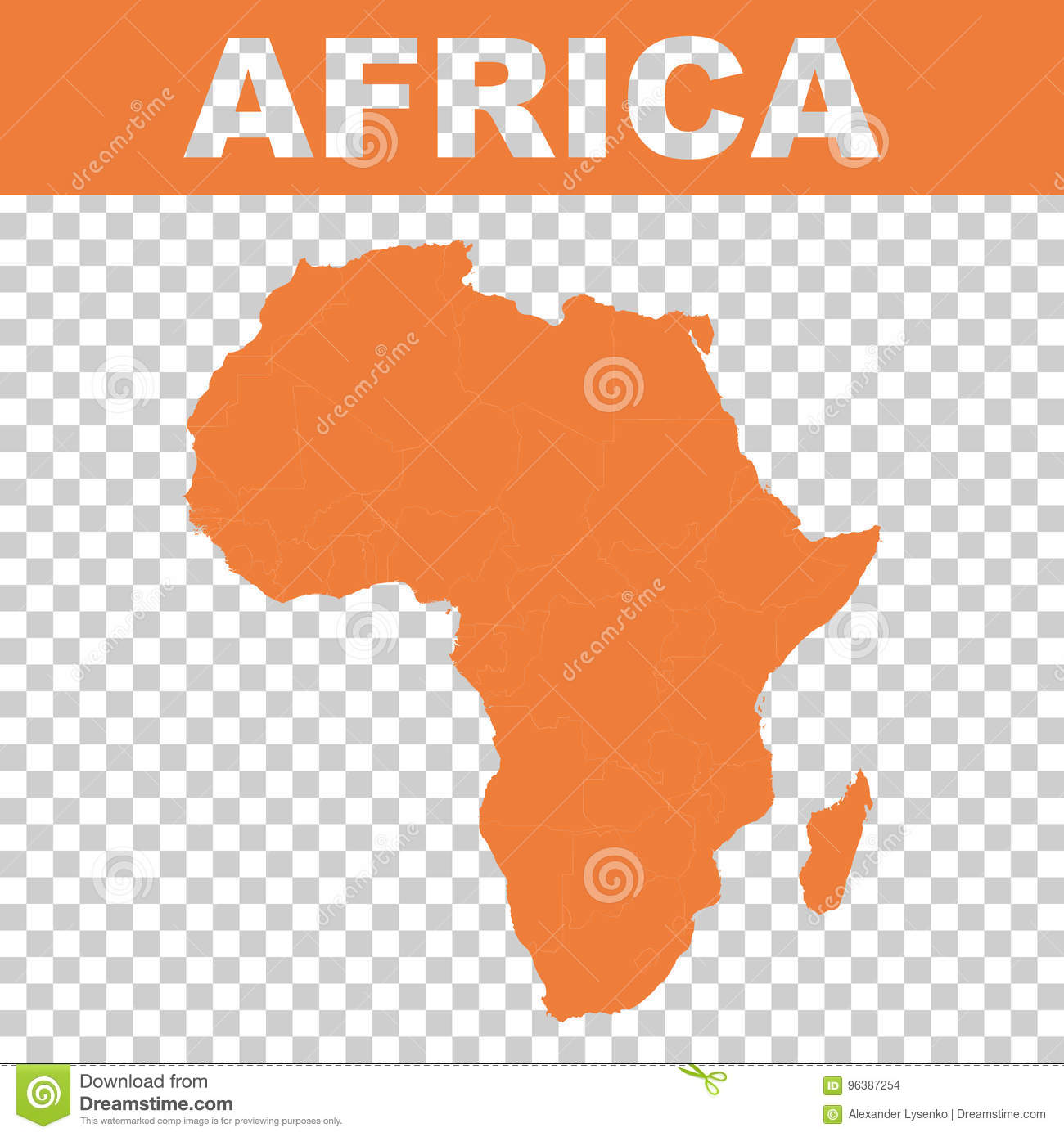 Map Of Africa Equator.Map Of Africa Vector Flat Stock Vector Illustration Of Equator