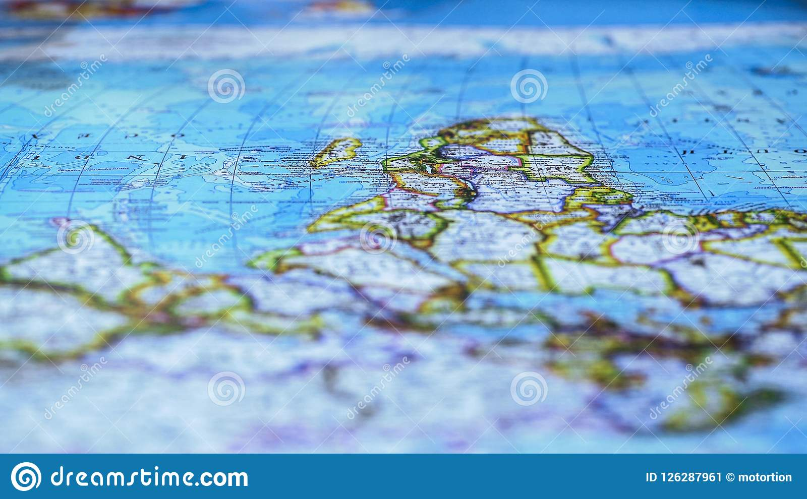 Map Of Africa Geography.Map With African Continent Close Up Travel And Adventures World