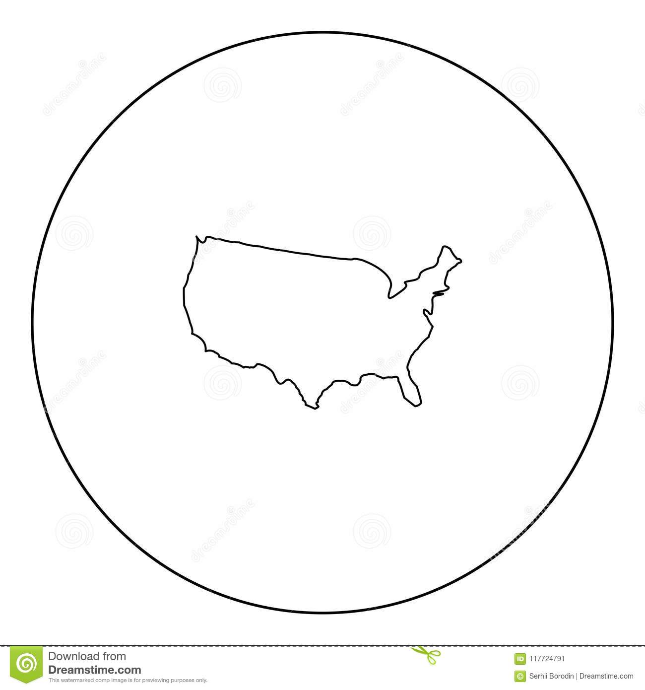 Map Of America Icon Black Color In Circle Stock Vector ... Map Of America Outline on outline map poland, outline map south korea, color map of america, balkanization of america, contour map of america, simple outline of north america, outline map latvia, blank map of america, map of north america, latitude and longitude map of america, state map of america, agricultural map of america, outline south america map, printable outline of north america, insurance office of america, theme map of america, layout map of america, coloring pages of america, puppeteers of america,