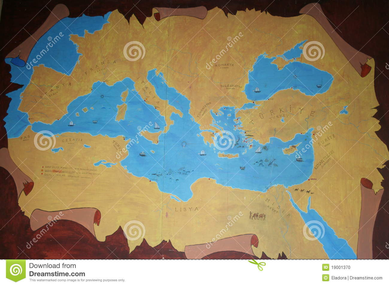 Map of ancient anatolia stock photo. Image of color, mail - 19001370