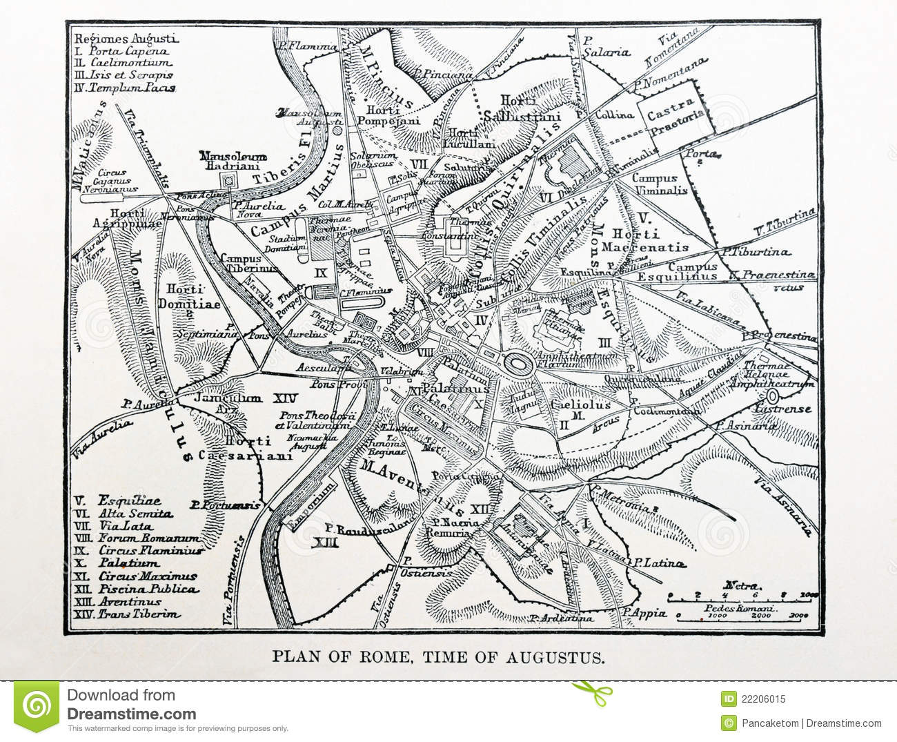 Map Of Ancient Rome Royalty Free Stock Photo Image - Rome map download