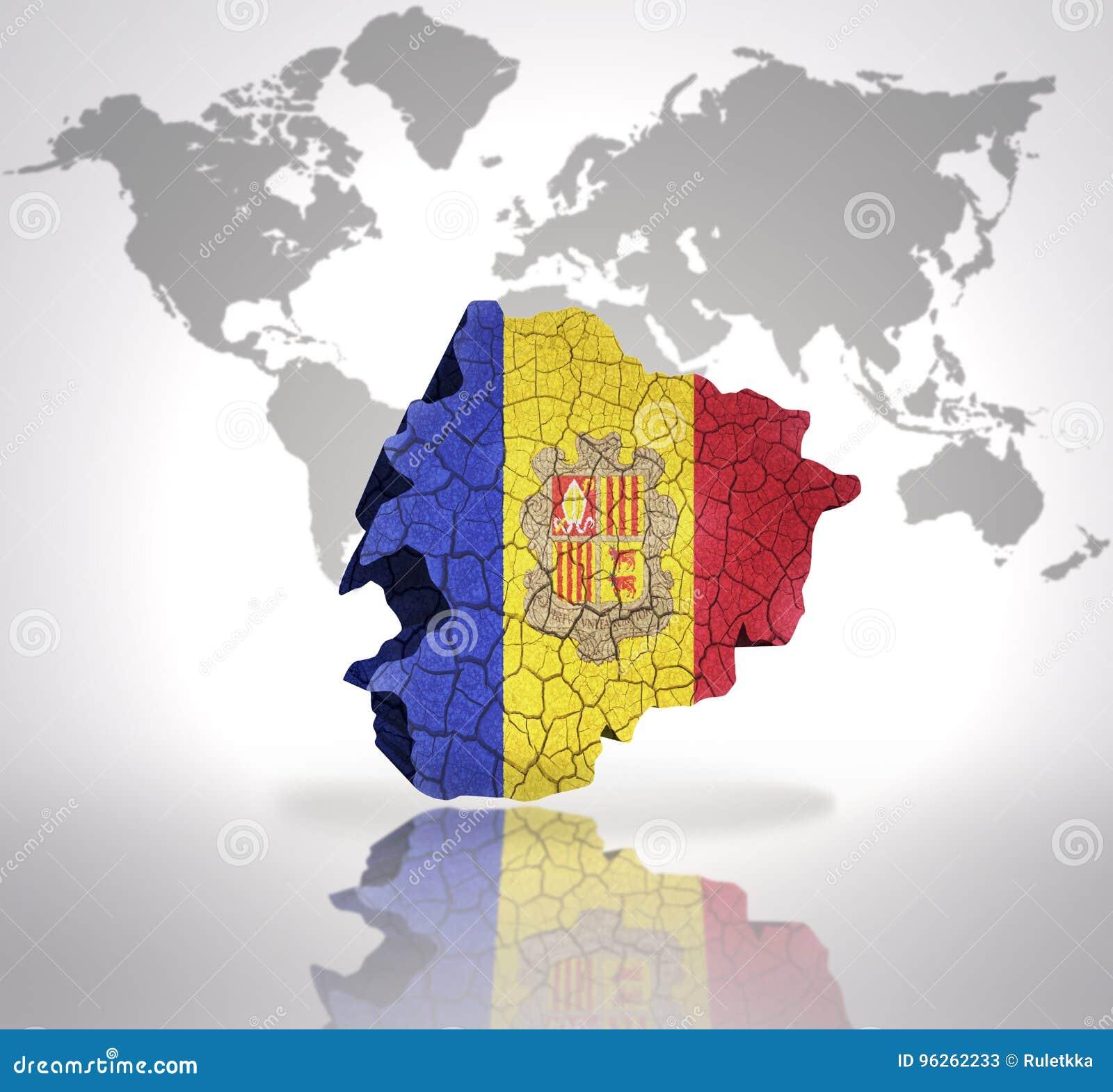 Map Of Andorra Stock Illustration Illustration Of Patriotic 96262233