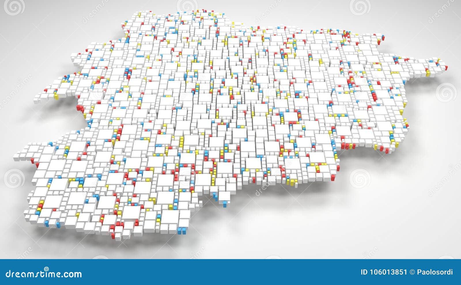 Map Of Andorra Europe Stock Illustration Illustration Of