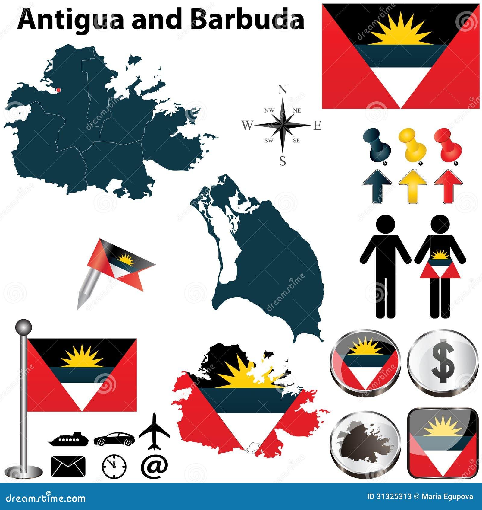 how to make the antigua and barbuda flag on trinket