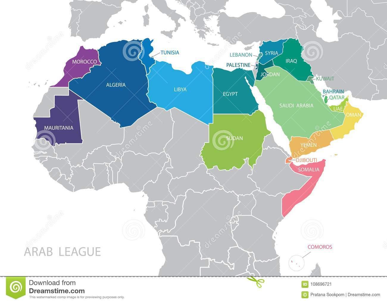 Map of arab league league of arab states map stock vector download map of arab league league of arab states map stock vector illustration gumiabroncs Images