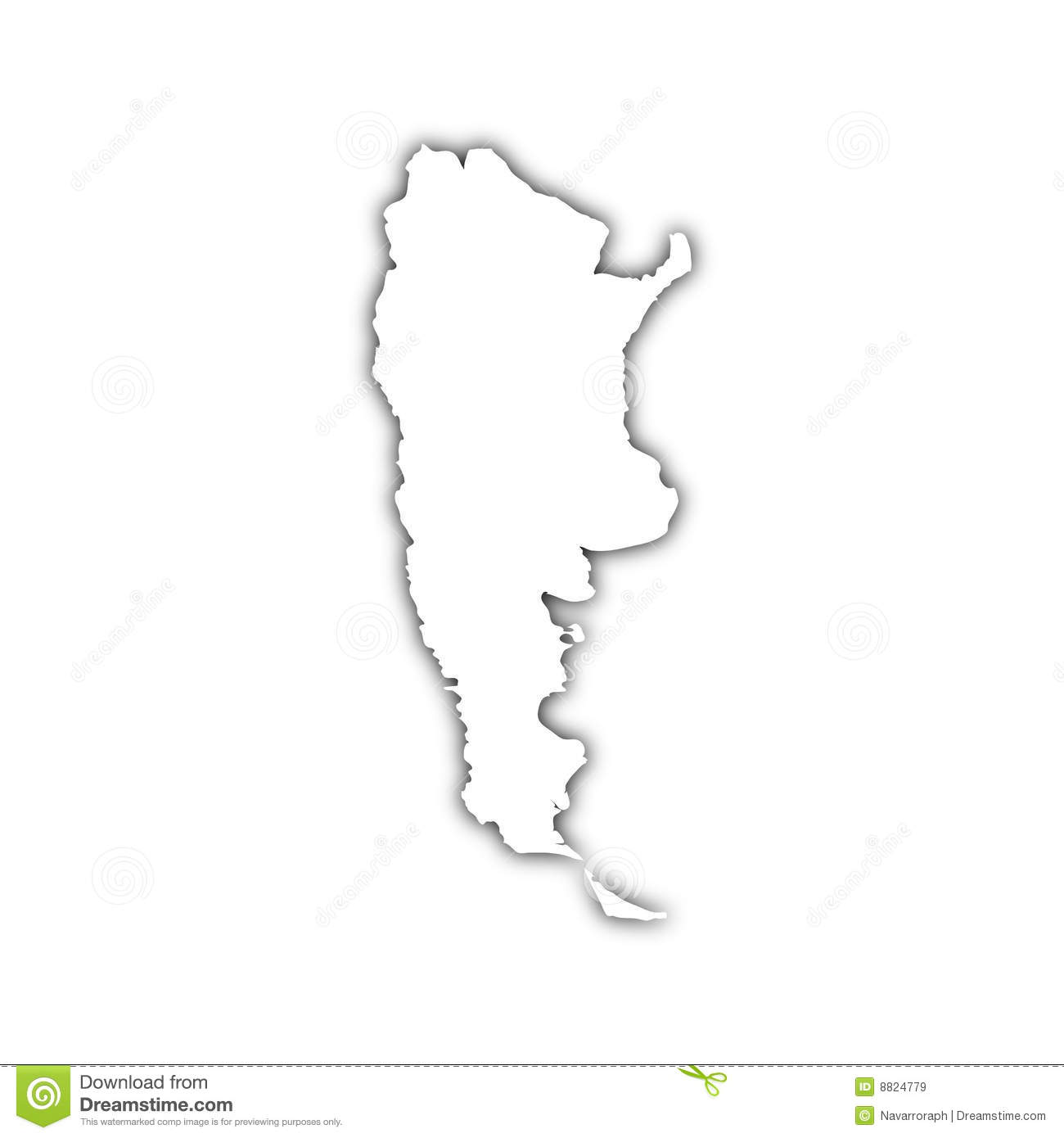 Map Of Argentina With Shadow Stock Illustration Image - Argentina map download
