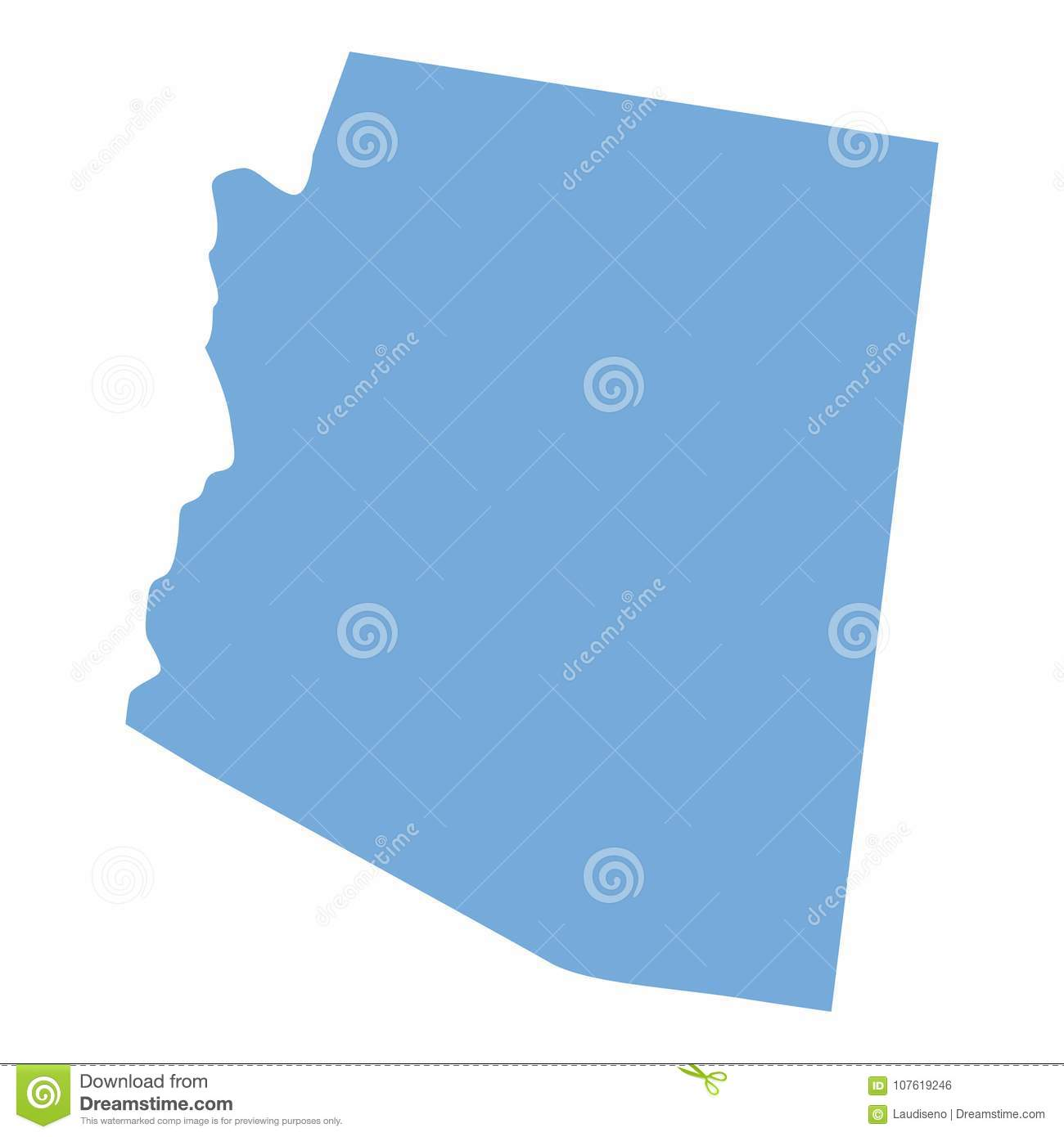 Arizona State map stock vector. Illustration of cartography - 107619246