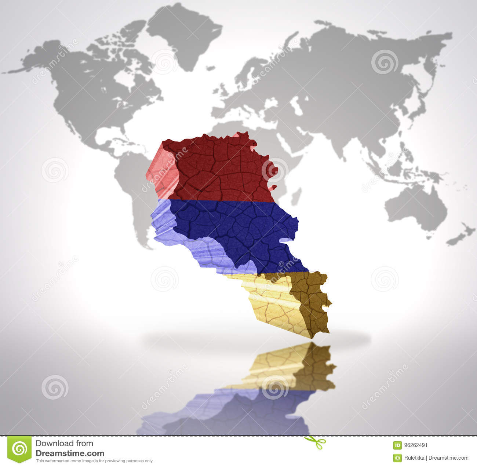 Map Of Armenia Stock Illustration Illustration Of Patriotism 96262491