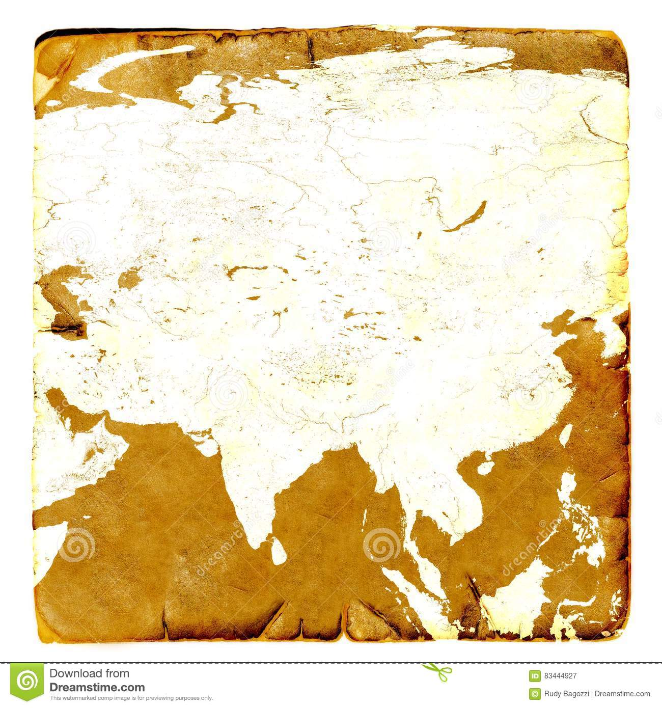 China On Map Of Asia.Map Of Asia Continent Blank In Old Style Russia China India